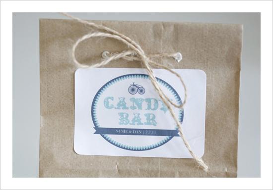 DIY candy buffet labels- weddingchicks.com