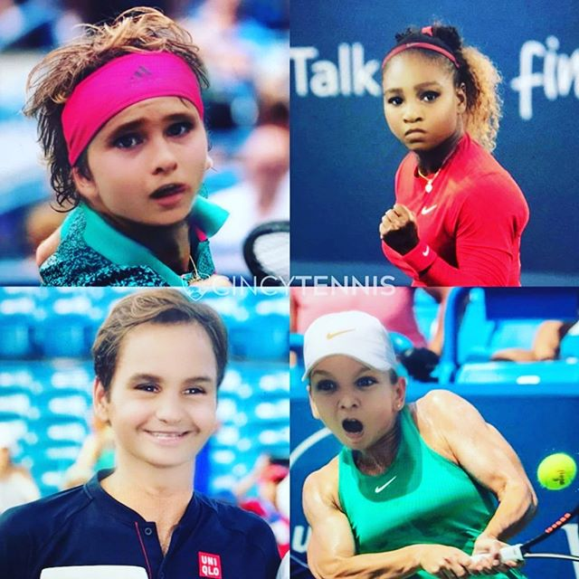 Early pics of the superstars! 💪😆💪. #barnetennis #kidstennis #srndptyplay #srndptyplay #srndpty #srndptytennis #sendptykidstennis #tennis #nextgen  #nextgenwta  #nextgenatp #usta #ptr #nike