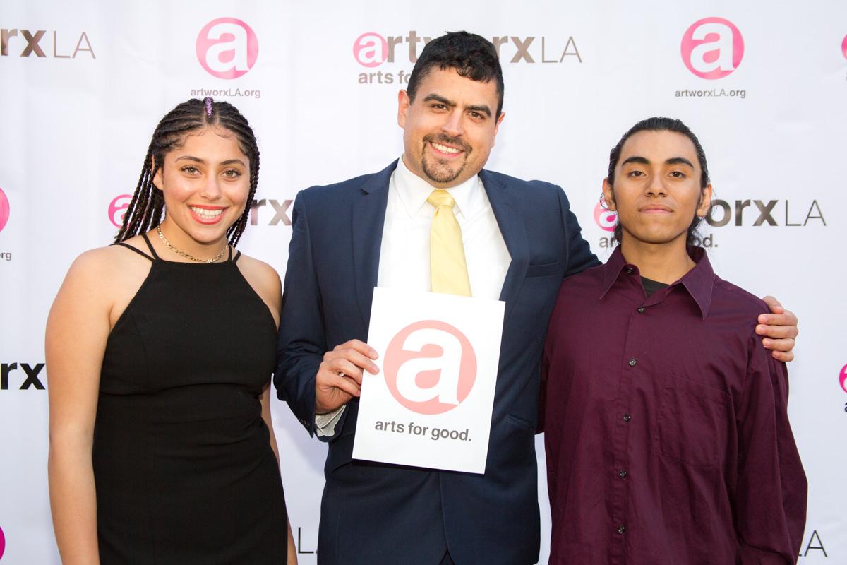 Iris Gonzalez, Gabriel Perez, artworxLA student