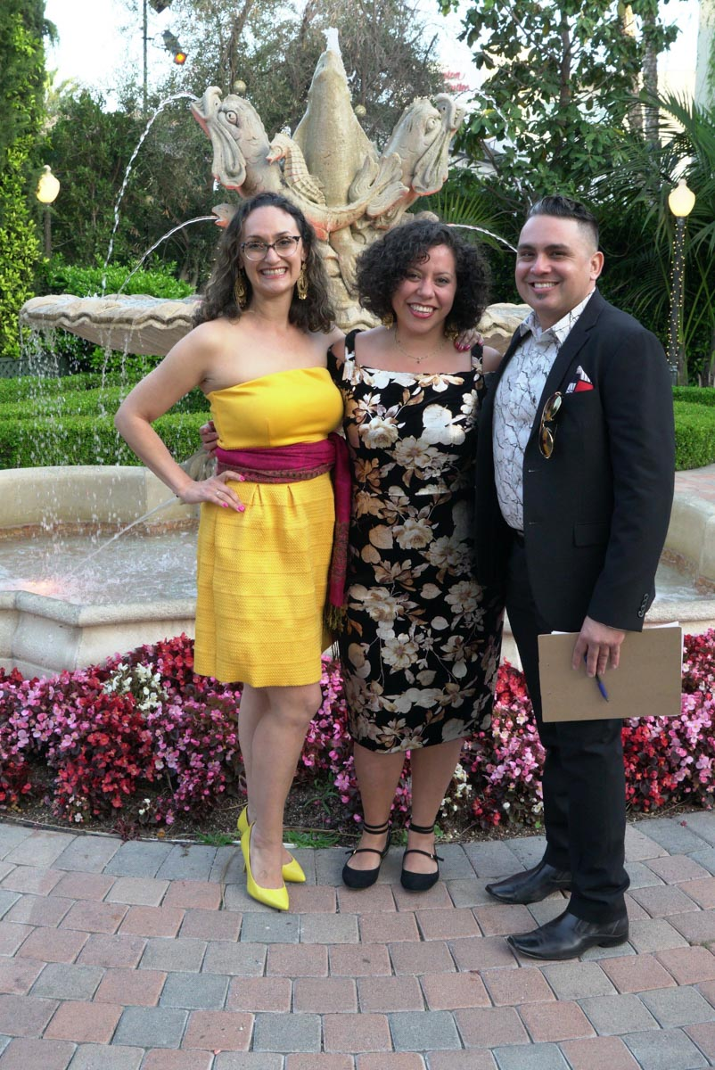 artworxLA staff members Xochitl-Julisa Bermejo, Noemy Hernandez, and Raul Flores