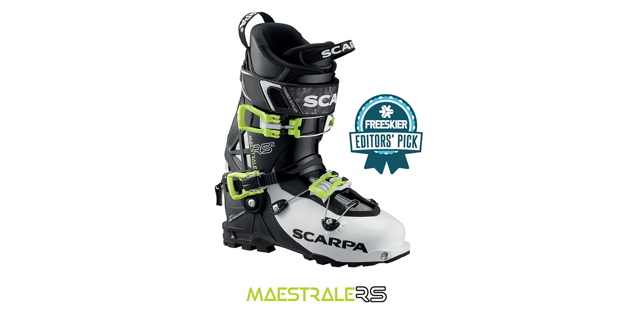 """""""The Maestrale saw a full redesign for 2017-18, resulting in a stiffer, more powerful boot without added weight—weight, reaffirming its position as one of the best freeride-touring boots on the market."""" Read the full review below."""