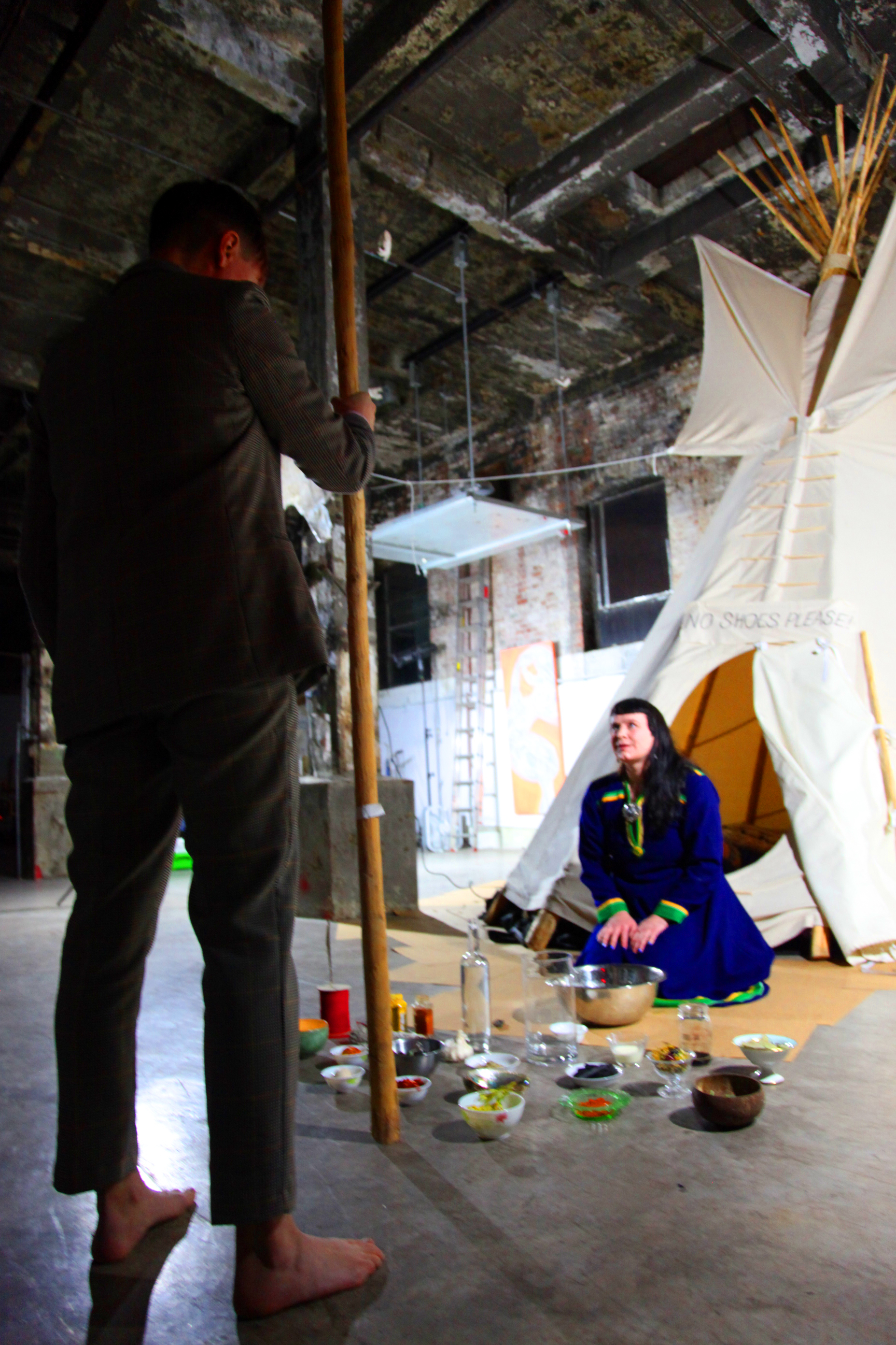 TEEPEE NAMING CEREMONY - Sunday, Oct 28, 2018 8pmIntimate ceremony for 14 guests conducted by current Sea Artists @ Mothership NYC:Kirsty Whiten, Visual Artist (Scotland)Marita Isobel Solberg, Performance Artist/Vocalist (Norway)Please sign up here.