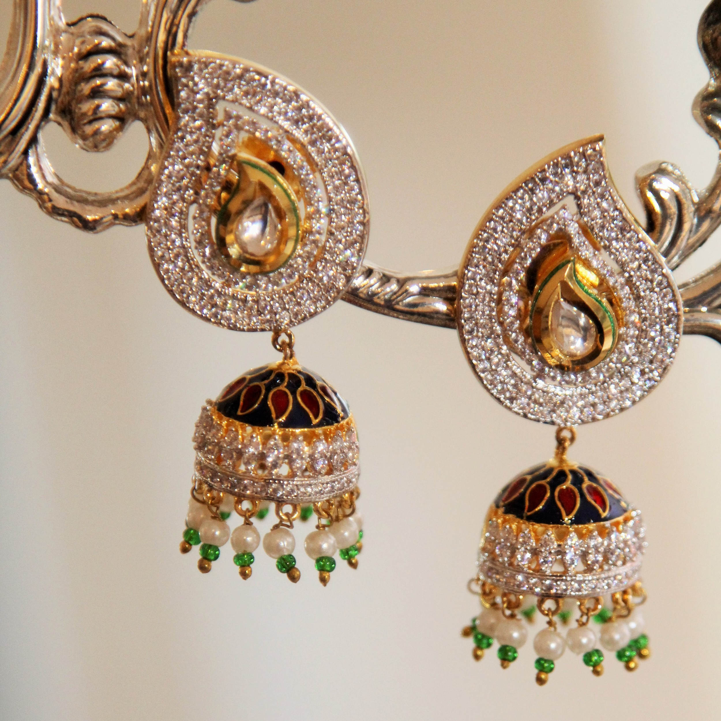 Ambi Crystal Chandelier Jhumki Earrings
