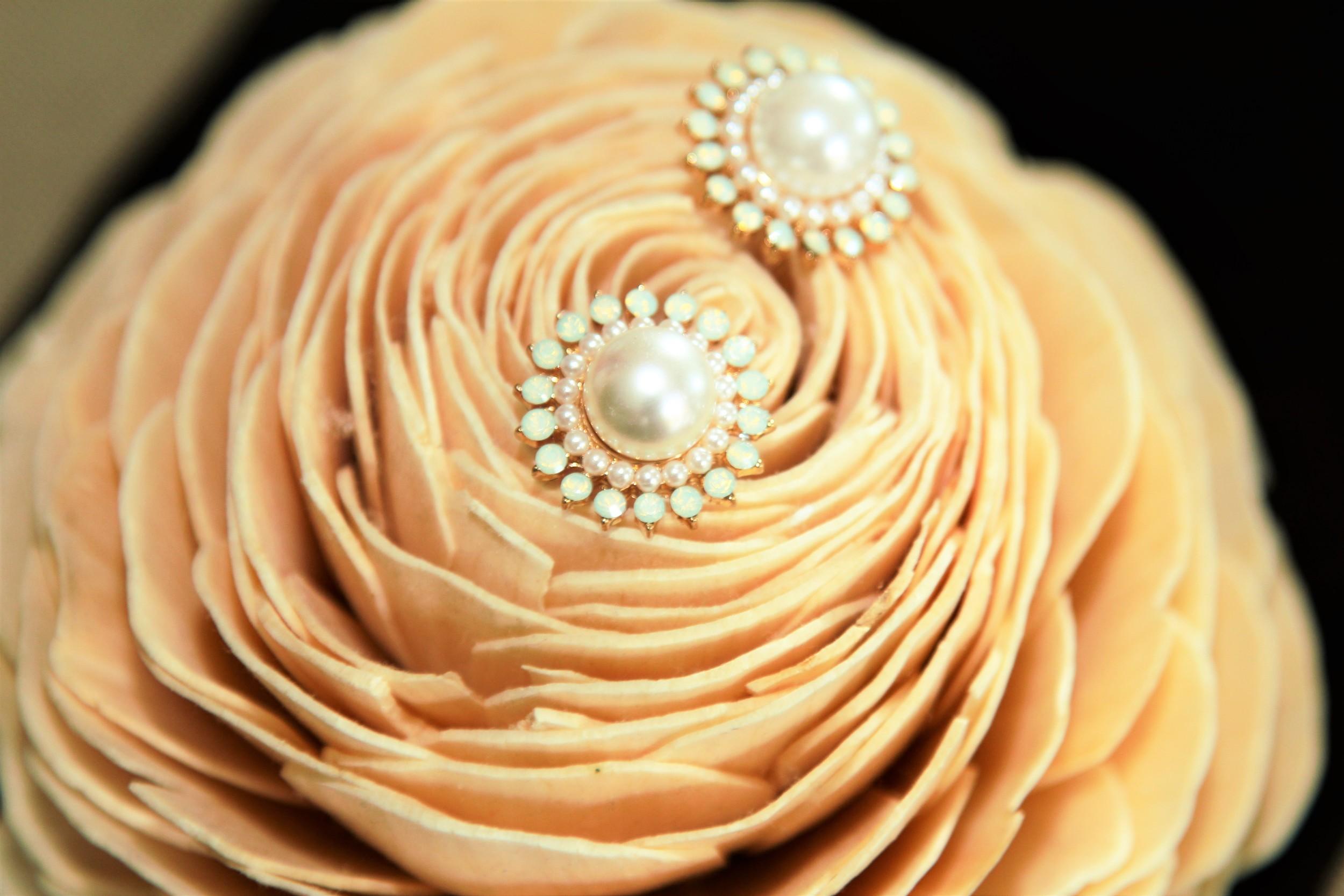 Pearlescent Sun Earrings