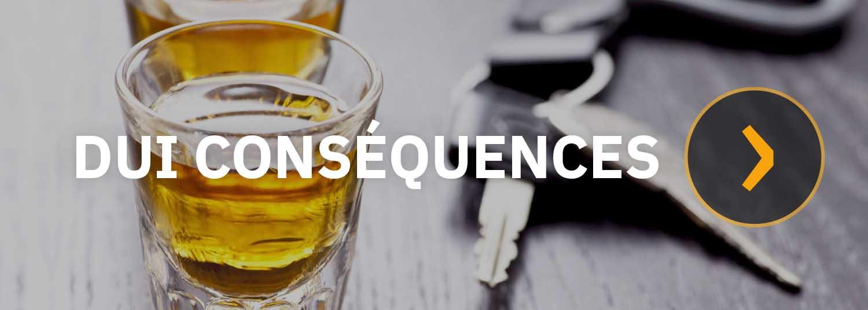 Conséquences pour alcool au volant, conduite avec facultés affaiblies