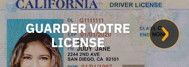 Garder votre license