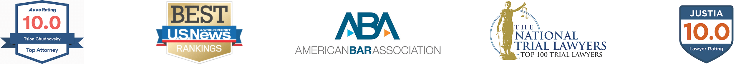 """Newport Beach Criminal Defense Attorney and DUI Lawyer Awards: Avvo 10.0 Rating, The National Trial Lawyers """"Top 100 Trial Lawyers"""" Award, Justia 10.0 Rating."""
