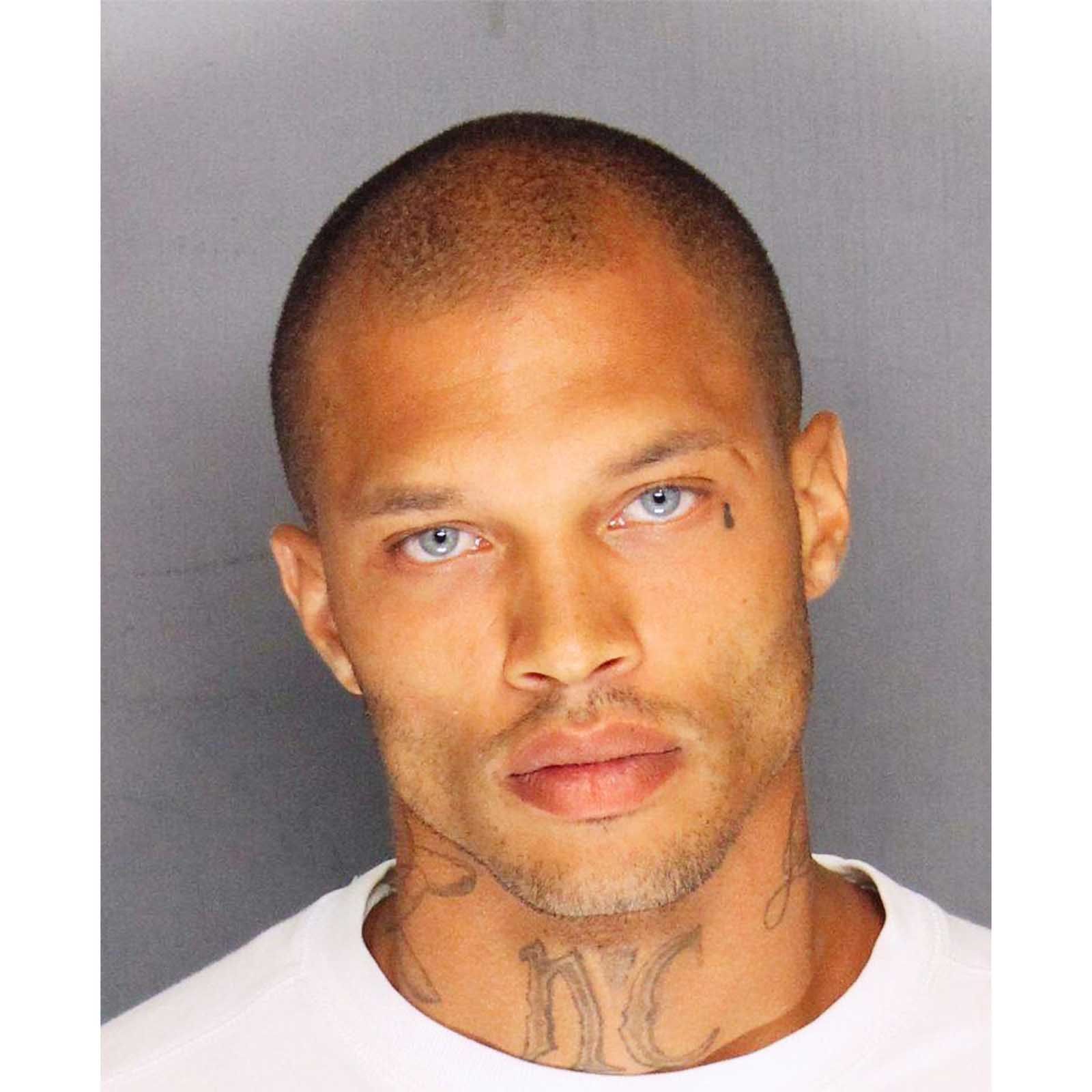"Jeremy Meeks, aka the ""Hot Felon"", 2014   Jeremy Meeks, aka the ""Hot Felon"" became famous due to his mug shot. After arrested in a gang sweep, Stockton Police posted his mugshot on  their Facebook page . The mugshot went viral, racking up 98,000+ likes. While serving his prison sentence, Meeks was recruited for a modeling contract and is now a top fashion model with  1.6mm instagram followers ."