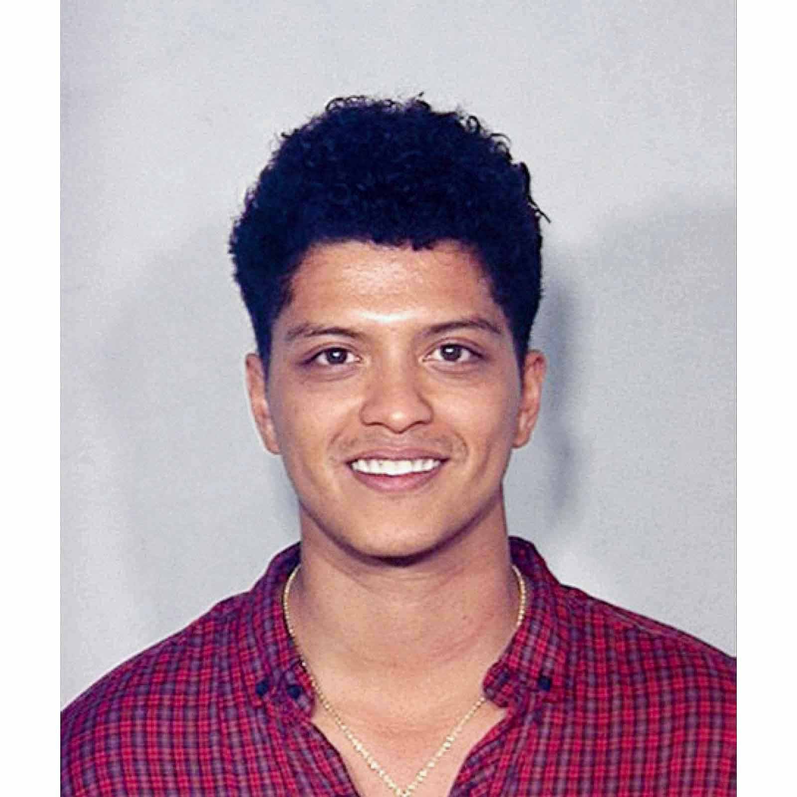 "Peter Gene Hernandez, aka ""Bruno Mars"", 2010   Singer Bruno Mars was arrested in 2010 in a bathroom of the Hard Rock Hotel & Casino in Las Vegas, Nevada for  felony cocaine possession . Mars pled guilty to cocaine possession (2.6 grams). Under his plea deal, charges were eventually dismissed after he paid a $2,000 fine and completed 200 hours of community service and eight hours of drug counseling."
