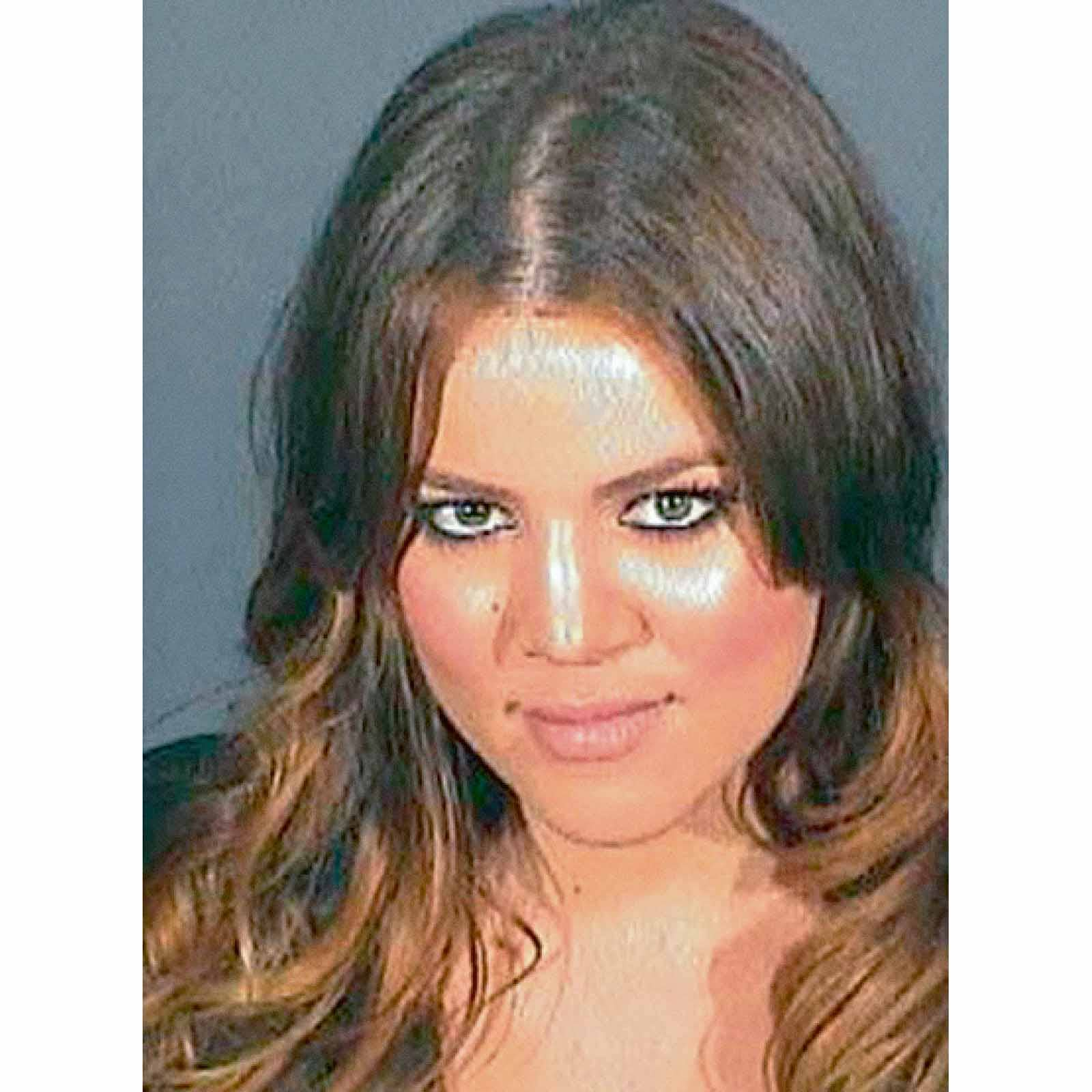 Khloé Kardashian, 2008    Kardashian turned herself into  Los Angeles County jail here in 2008 for violating terms of her probation for a 2007 DUI conviction. Khloé did not complete the alcohol education program or the community service that she promised to under her probation terms. Khloé was supposed to serve up to 30 days in jail, but was released just 30 hours later due to overcrowding.