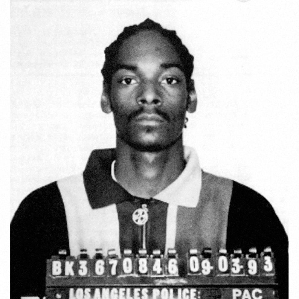 "Calvin Cordozar Broadus Jr., aka ""Snoop Dogg"", 1993   Snoop Dogg turned himself in to  face murder charges  in the shooting death of Phillip Woldemarian in the Palms district of Los Angeles in 1993. He was later acquitted of all charges."