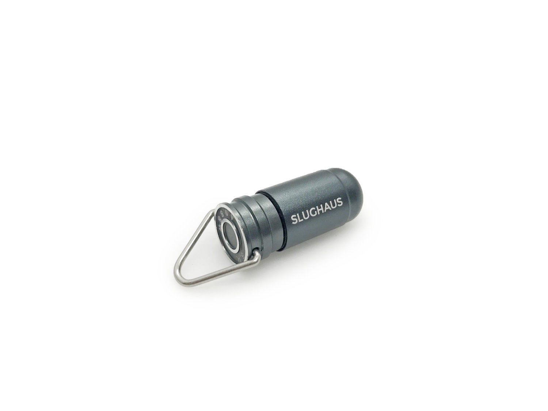 Slughaus 1 MATTE GUNMETAL BULLET 02 Light LED Gray Flashlight