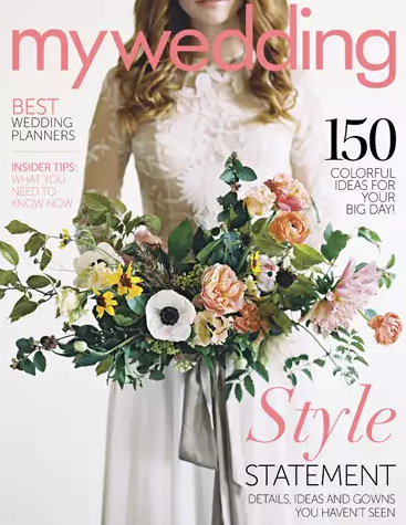 View our wedding photography work in the Spring 2017 issue of MyWedding magazine!
