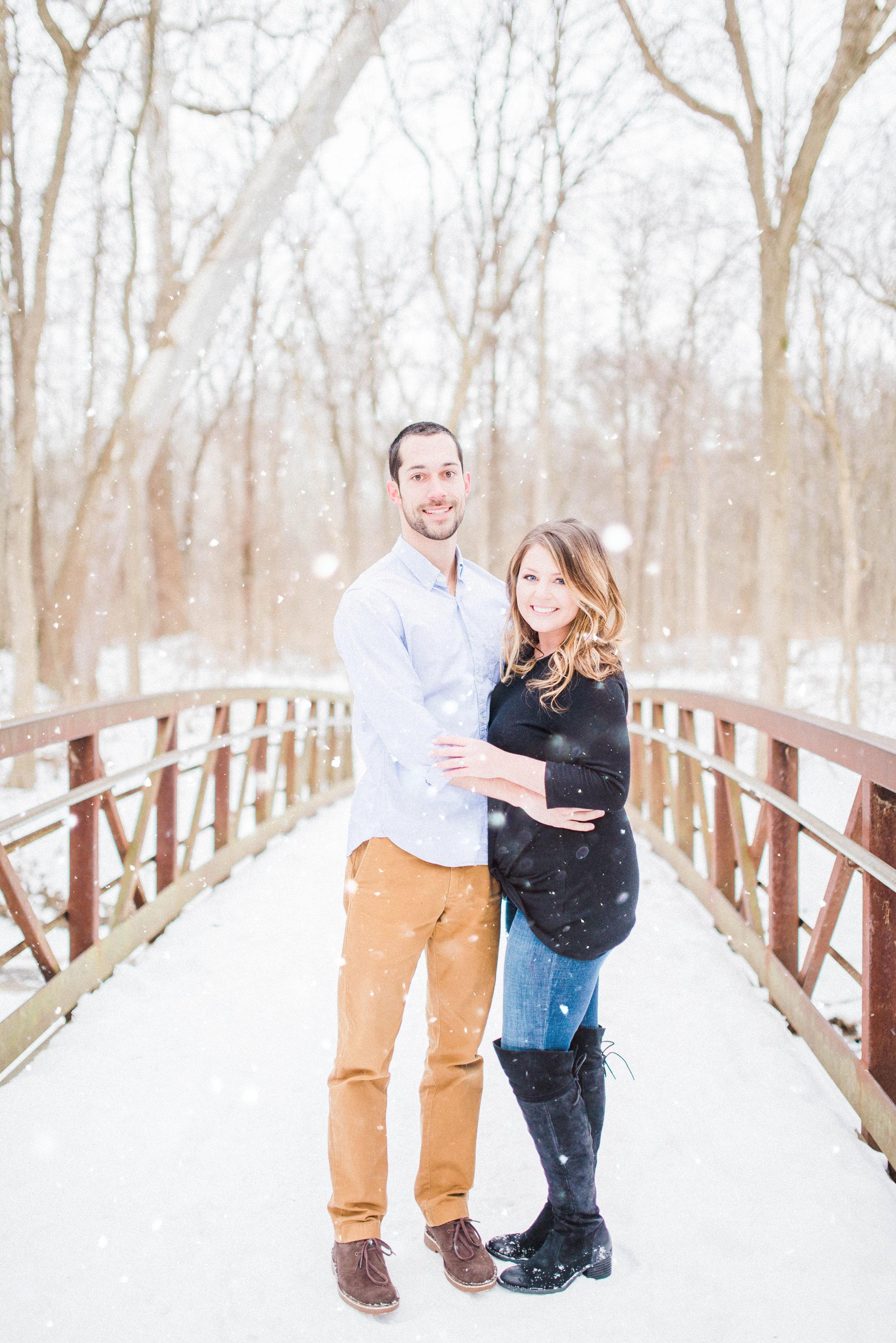 Fine Art Indianapolis Destination Wedding Photographer - Winter Snow Engagement Session