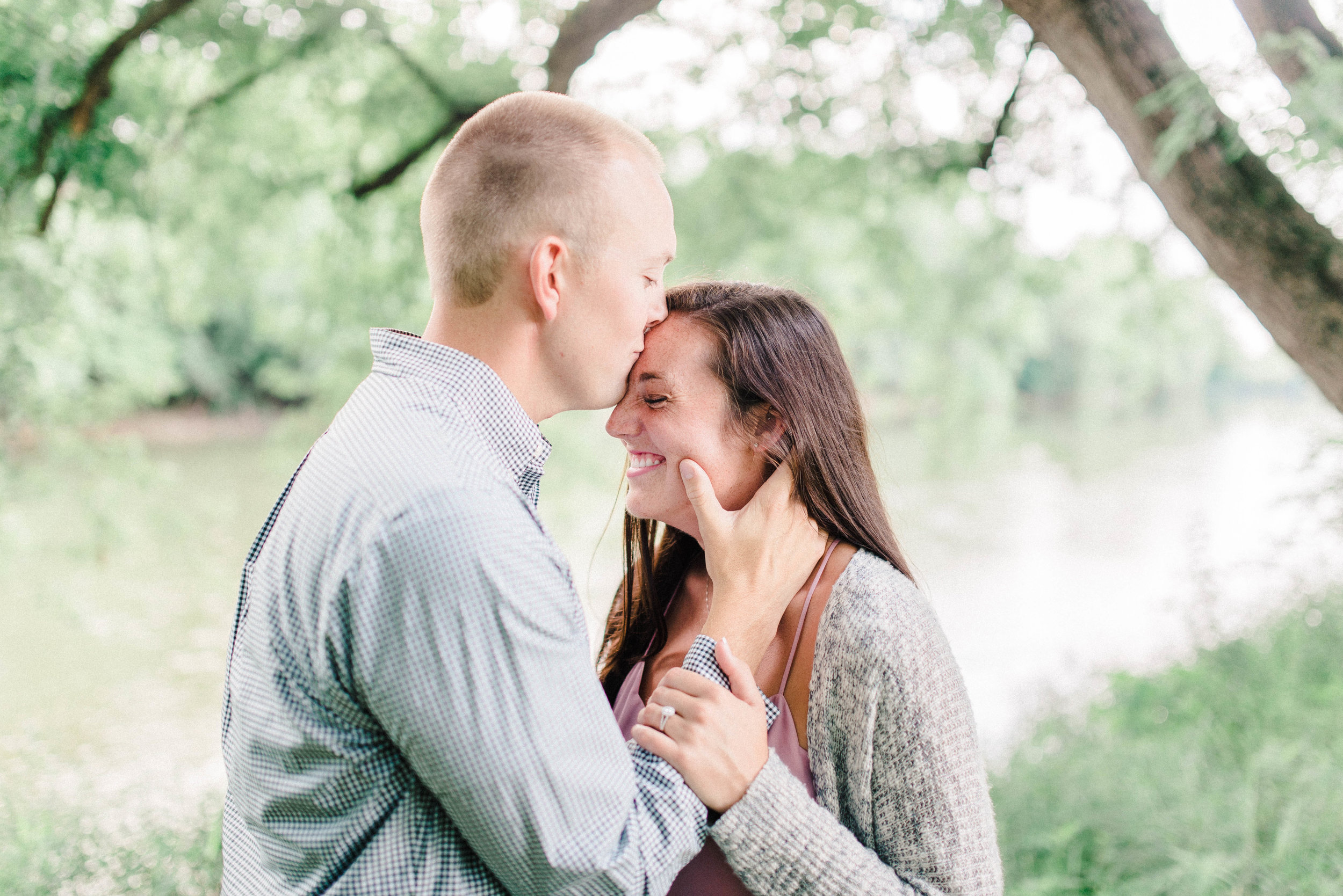 Kaitlin + Jonathan | Airy Summer Engagement Along the White River | Elopement & Destination Wedding Photographers | Carmel, IN