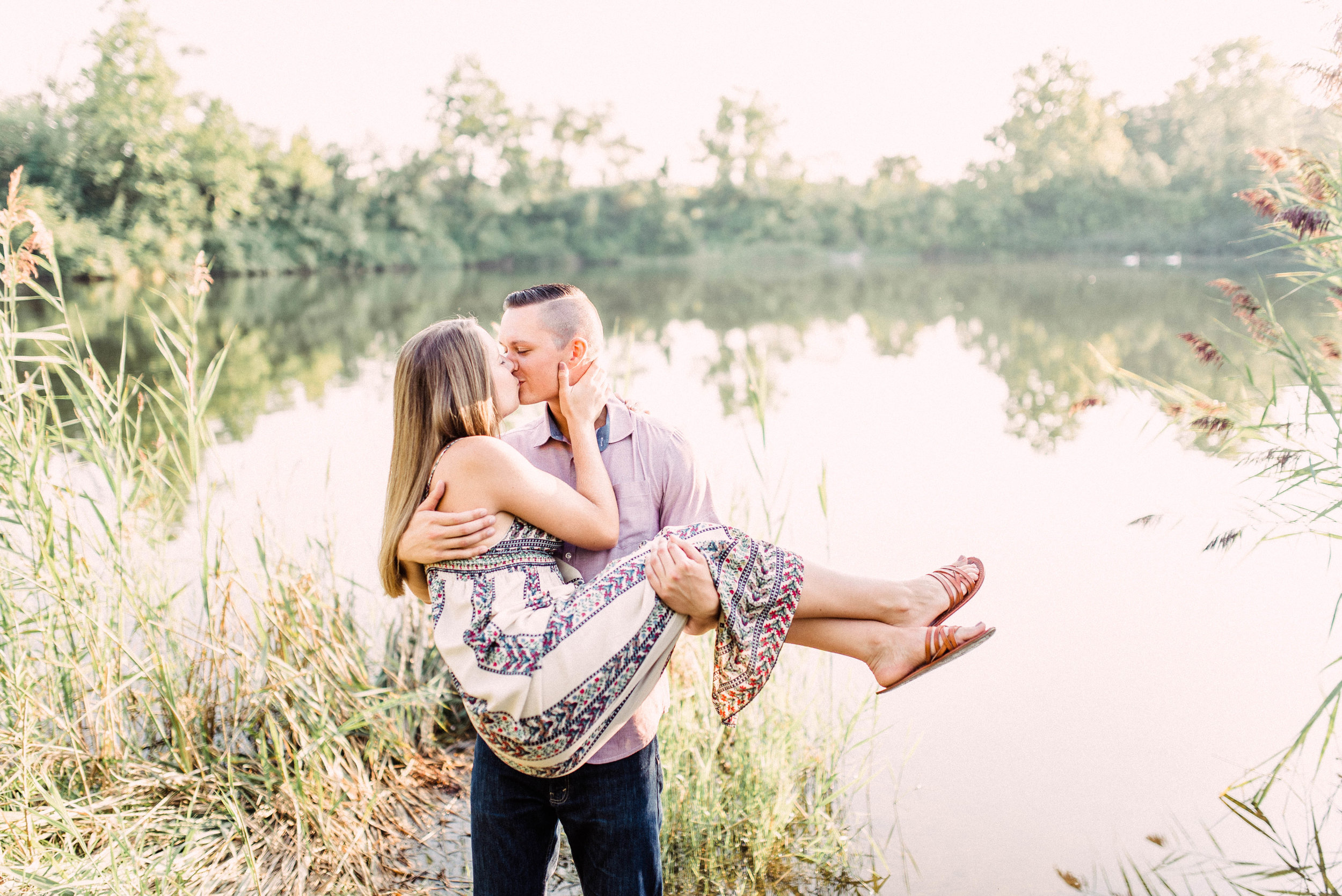 Kandace + Michael | A Romantic and Carefree Engagement Photography Session at a Park in Carmel, IN | Indianapolis Elopement & Destination Wedding Photographers