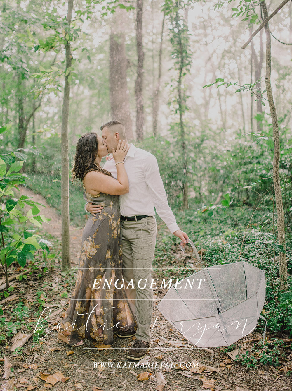 Kaitie + Joseph | A Romantic Engagement with Rain Forest Vibes in Carmel, IN | Indianapolis Elopement & Destination Wedding Photographers