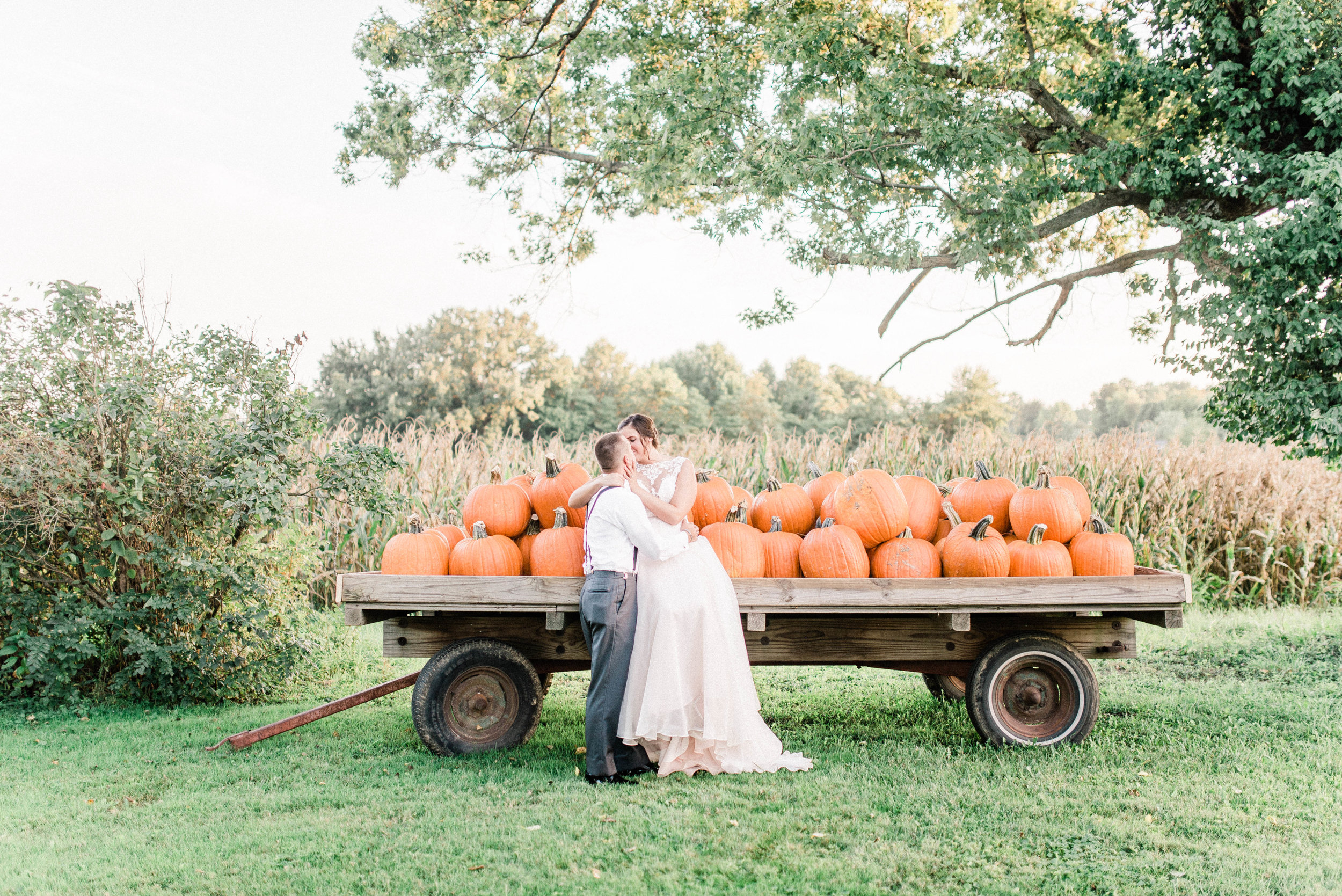 Megan + Alan | Rustic Fall Wedding at the Barn on Maryland Ridge in Bloomington, IN | International Indianapolis Elopement & Destination Wedding Photographers
