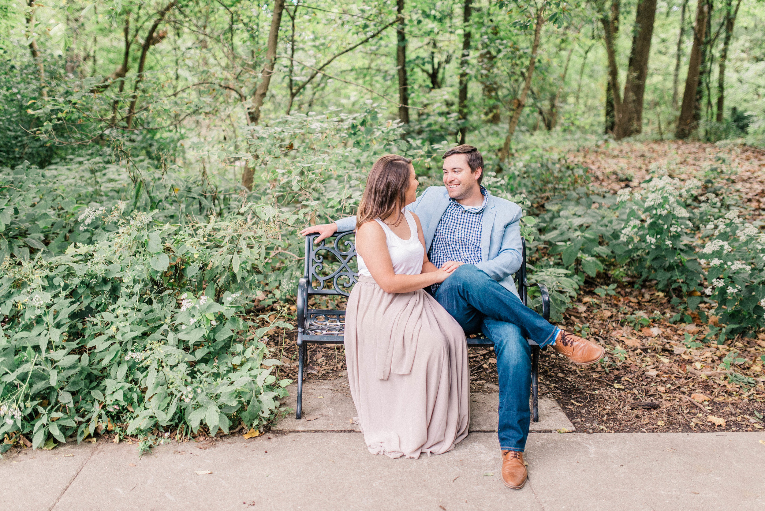 Emily + Jack | Romantic First Wedding Anniversary in the Woods | Carmel IN Destination Wedding Photographers