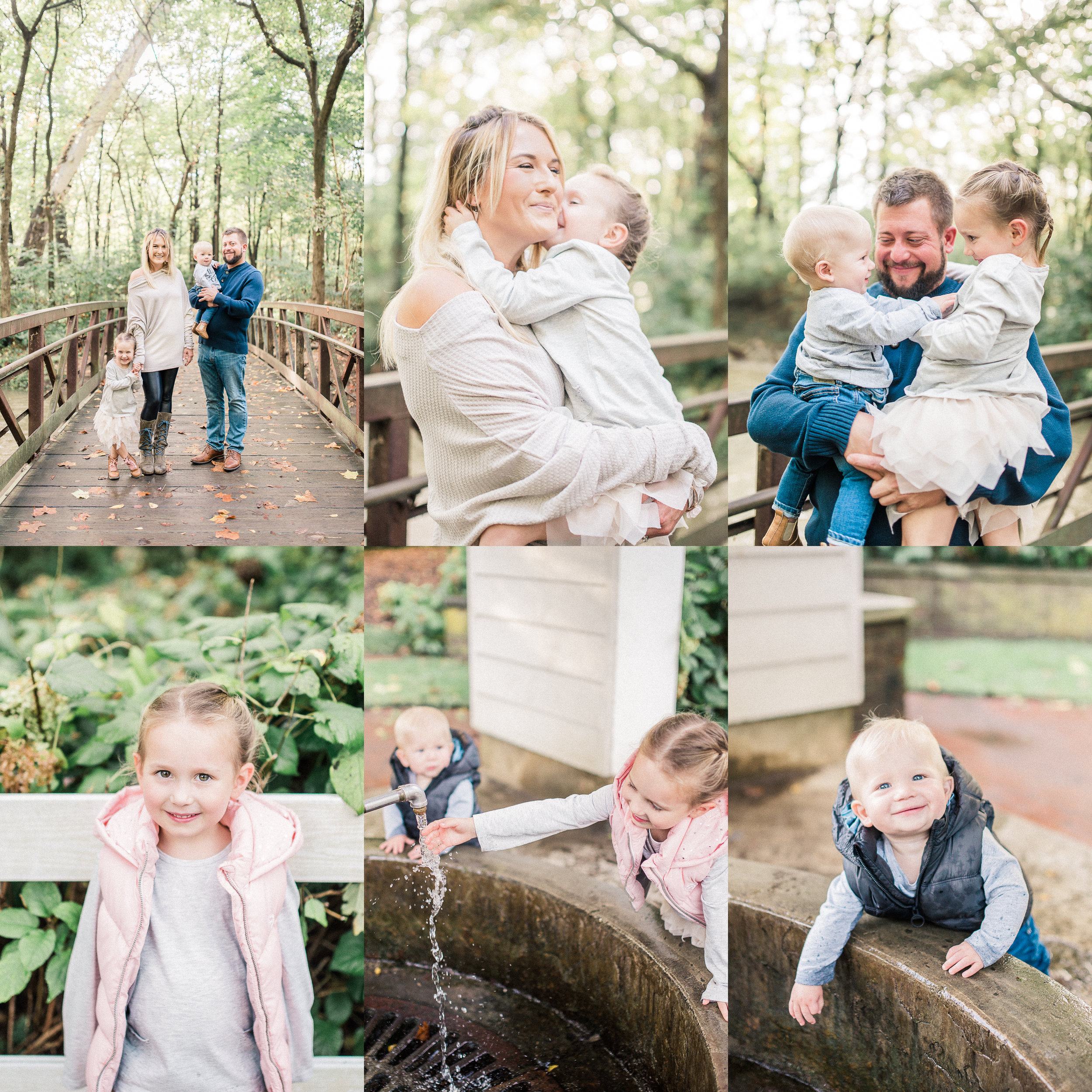 The Land Family | Woodsy Fall Photography Session at a Flowing Well | Carmel Indiana Family Photographers