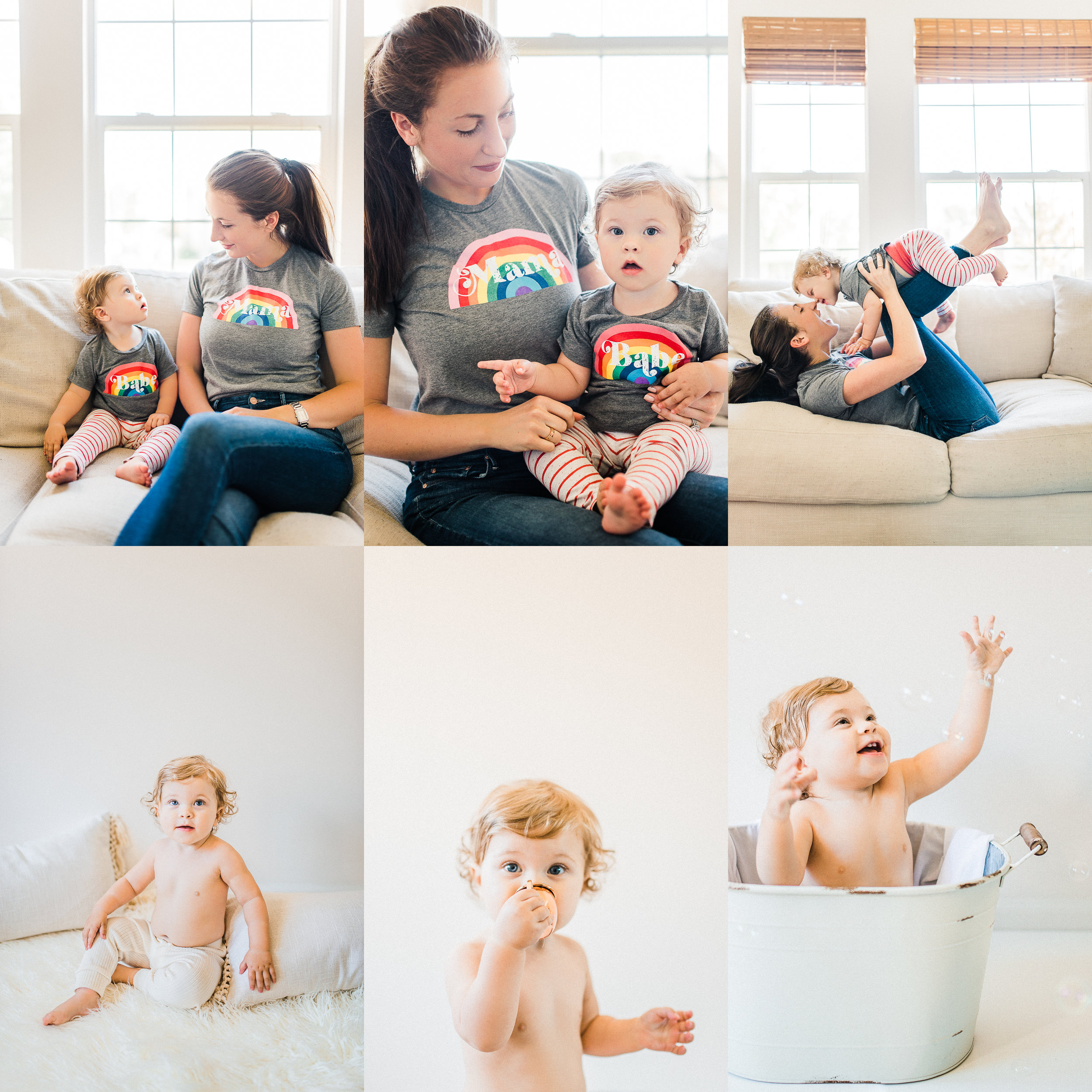 JoJo | Bare & Bubbly 12 Month Milestone Session | Noblesville, IN Photography Studio