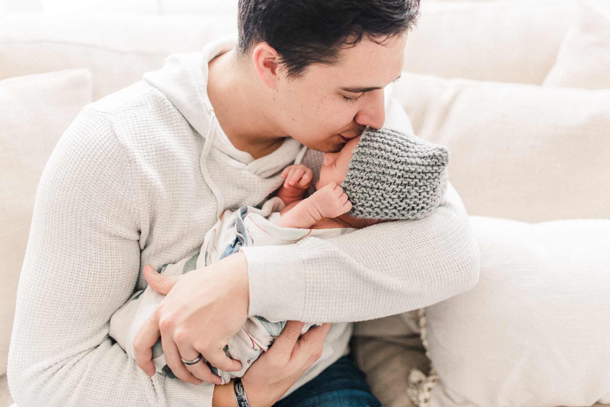 Cayden | Wide Awake and Expressive Newborn Photography Session in Noblesville, IN