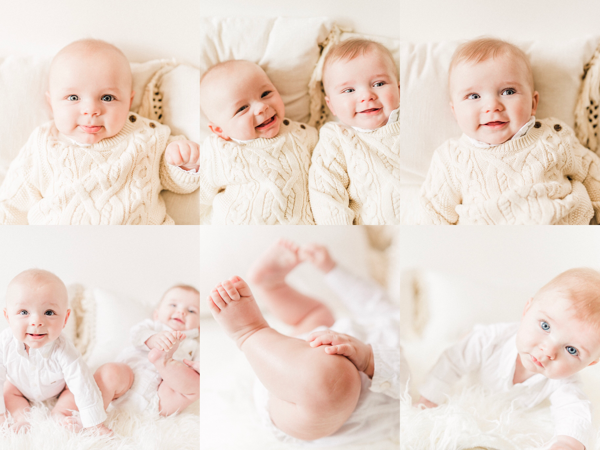 Henry + Owen | Bright Eyed 6 Month Milestone Photography | Noblesville, IN