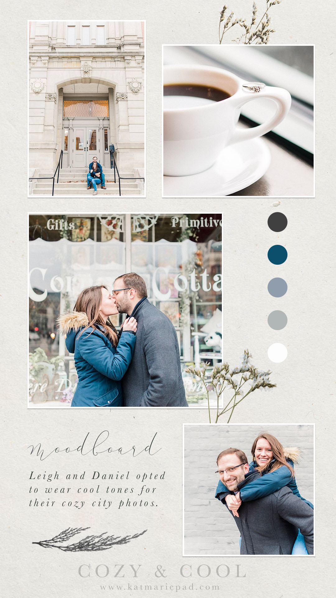 Leigh + Daniel   Cozy City Engagement Photography in Historic Downtown Noblesville, IN   Indianapolis Destination Wedding Photographers