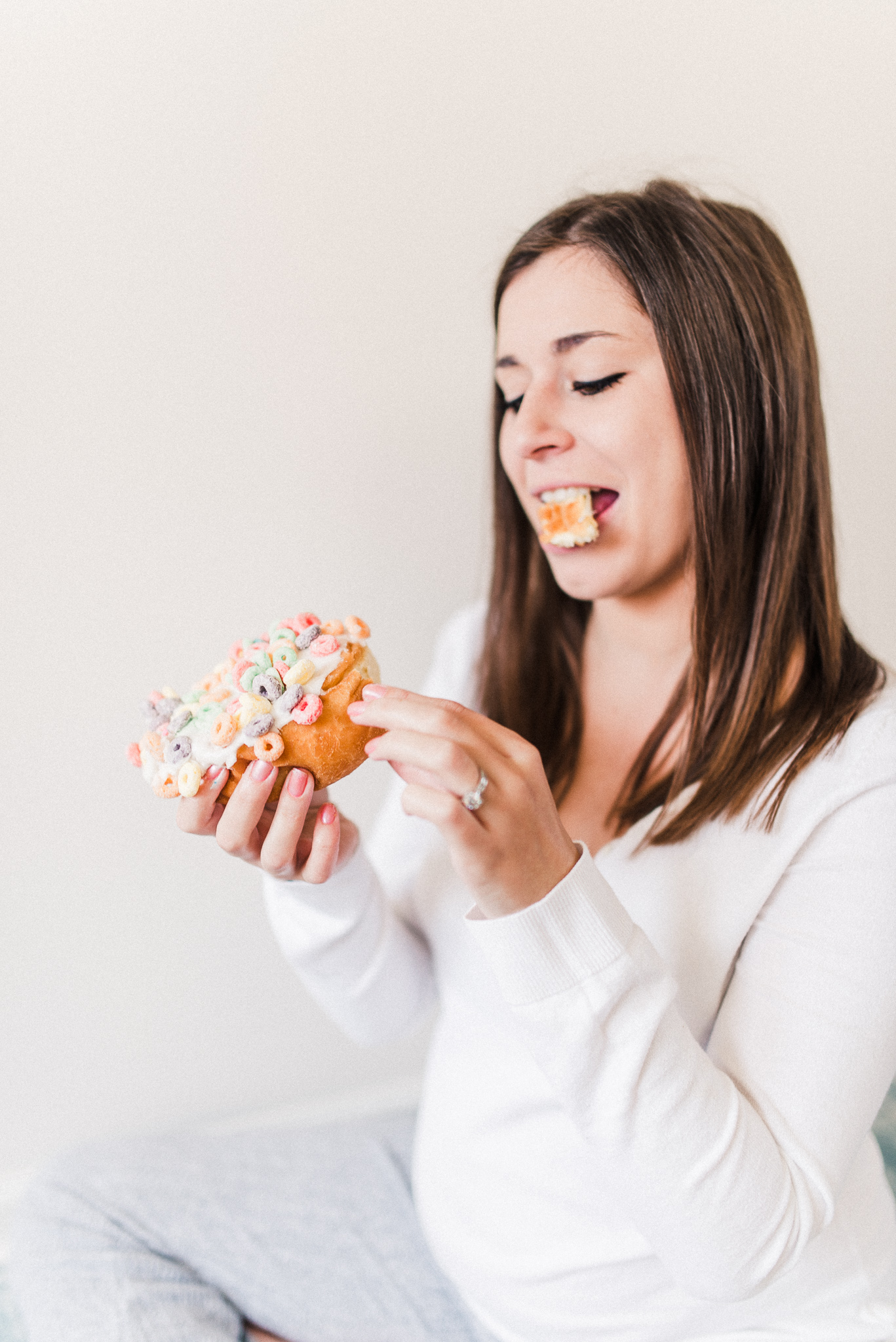 Michaella's Yoga & Donuts Gender Reveal | Maternity Photography Studio in Noblesville, IN | Indianapolis Newborn Photographers