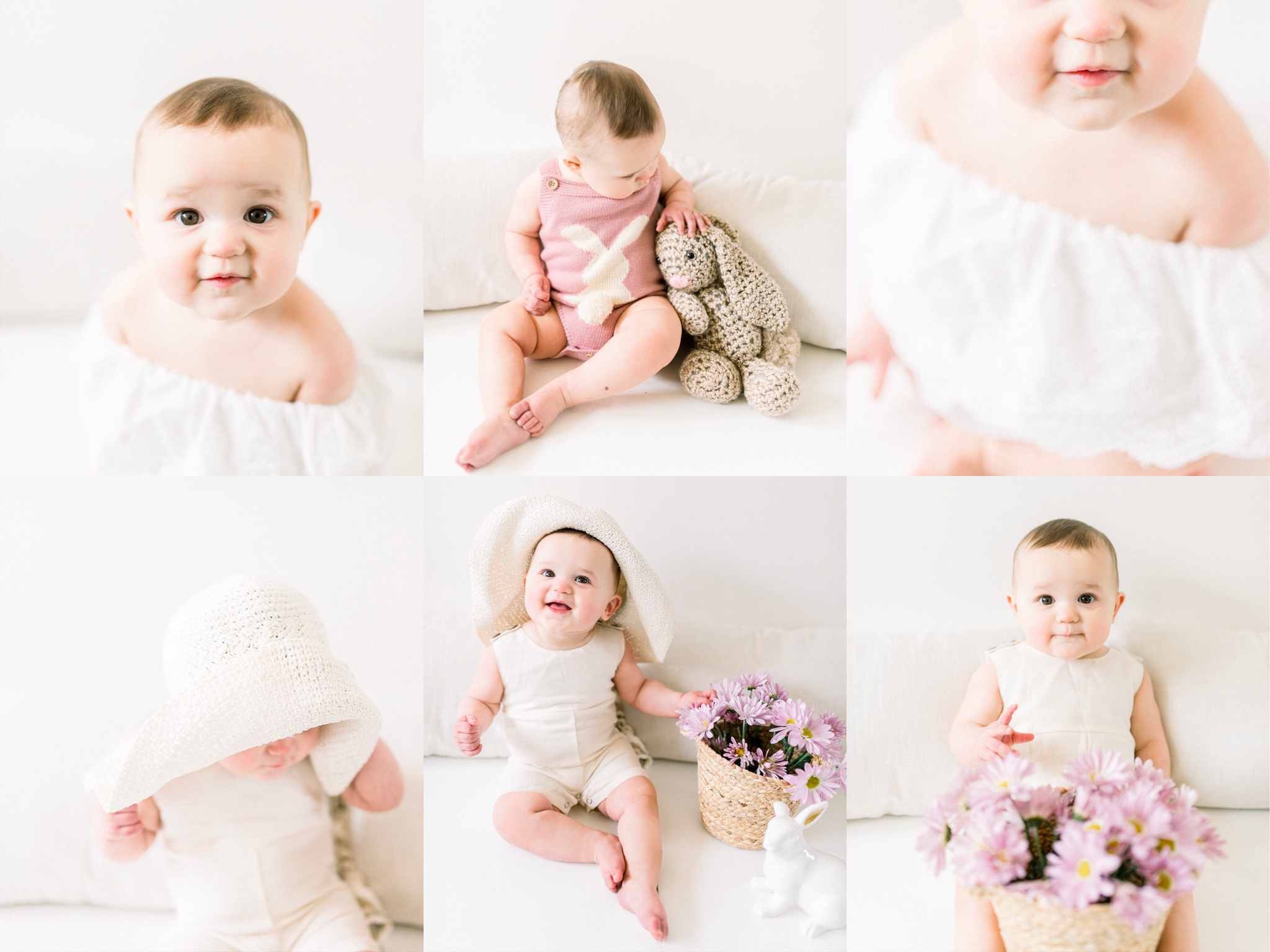 Paige | Spring Has Sprung 9 Month Baby Milestone Photography | Noblesville, IN