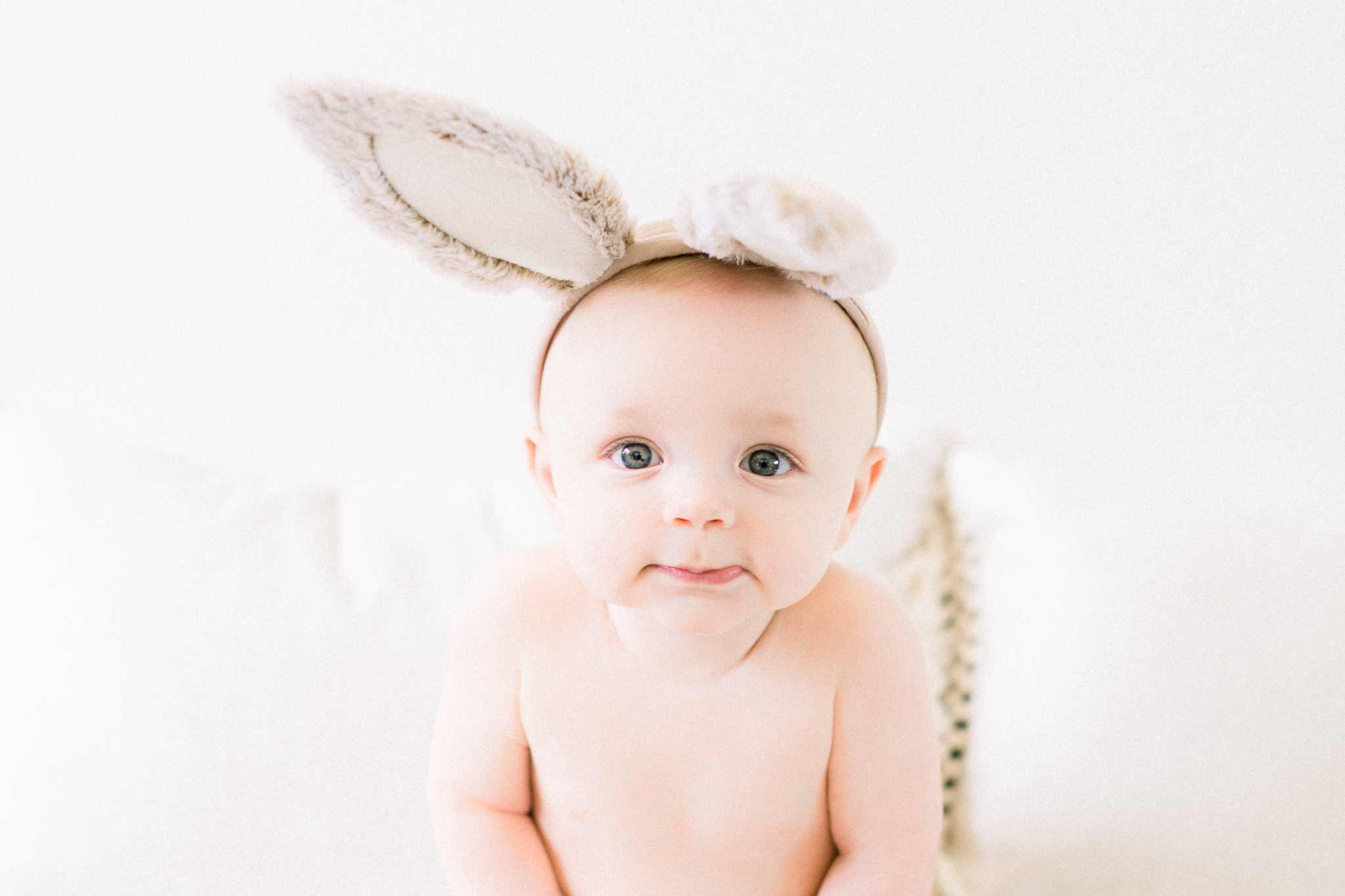 Henry + Owen | Bubbly Bunny 9 Month Baby Milestone Photography Session | Noblesville, Indiana