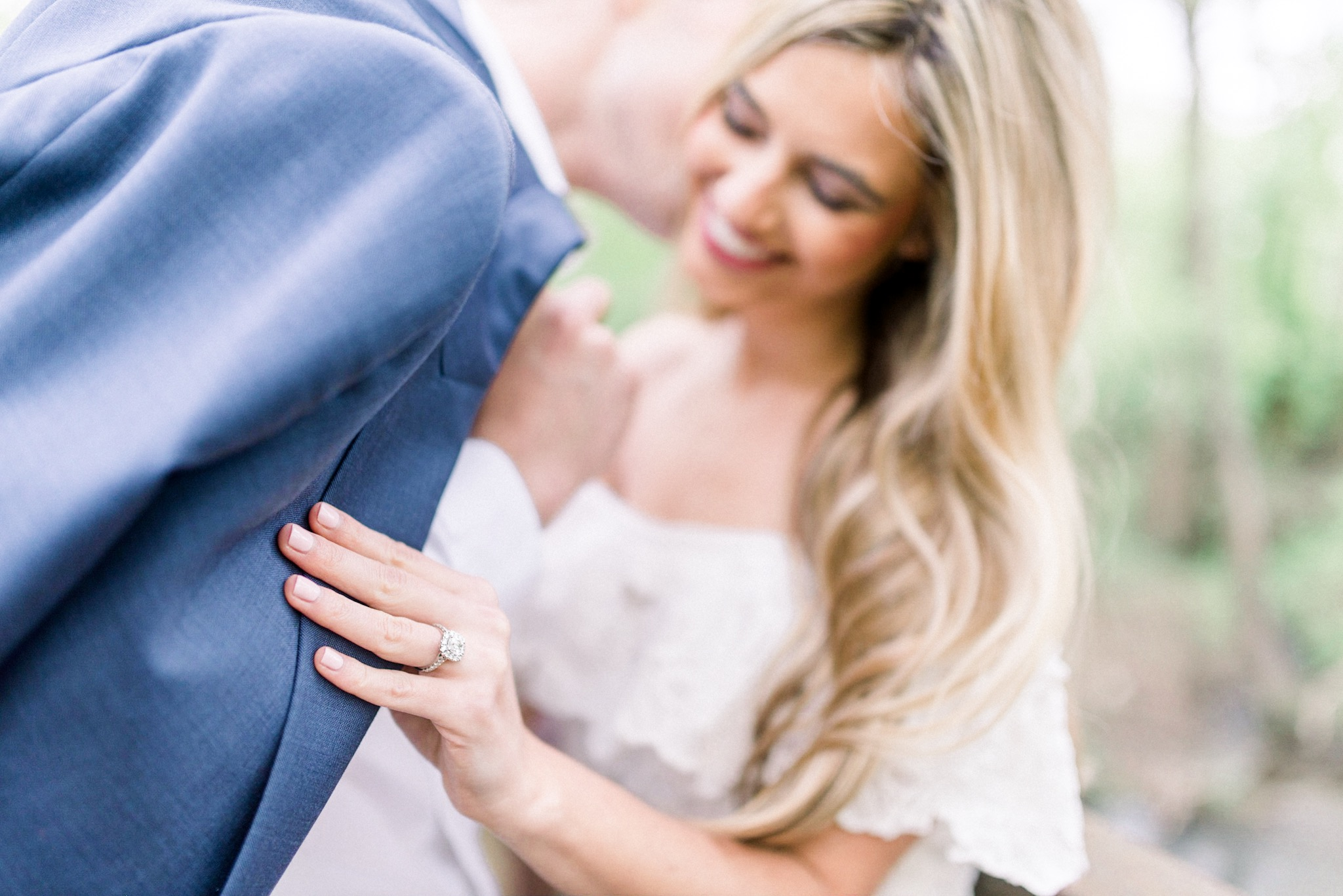 Jessica + Brayton | Romantic Engagement Photography by the Creek in Carmel Indiana | Indianapolis Wedding Photographers