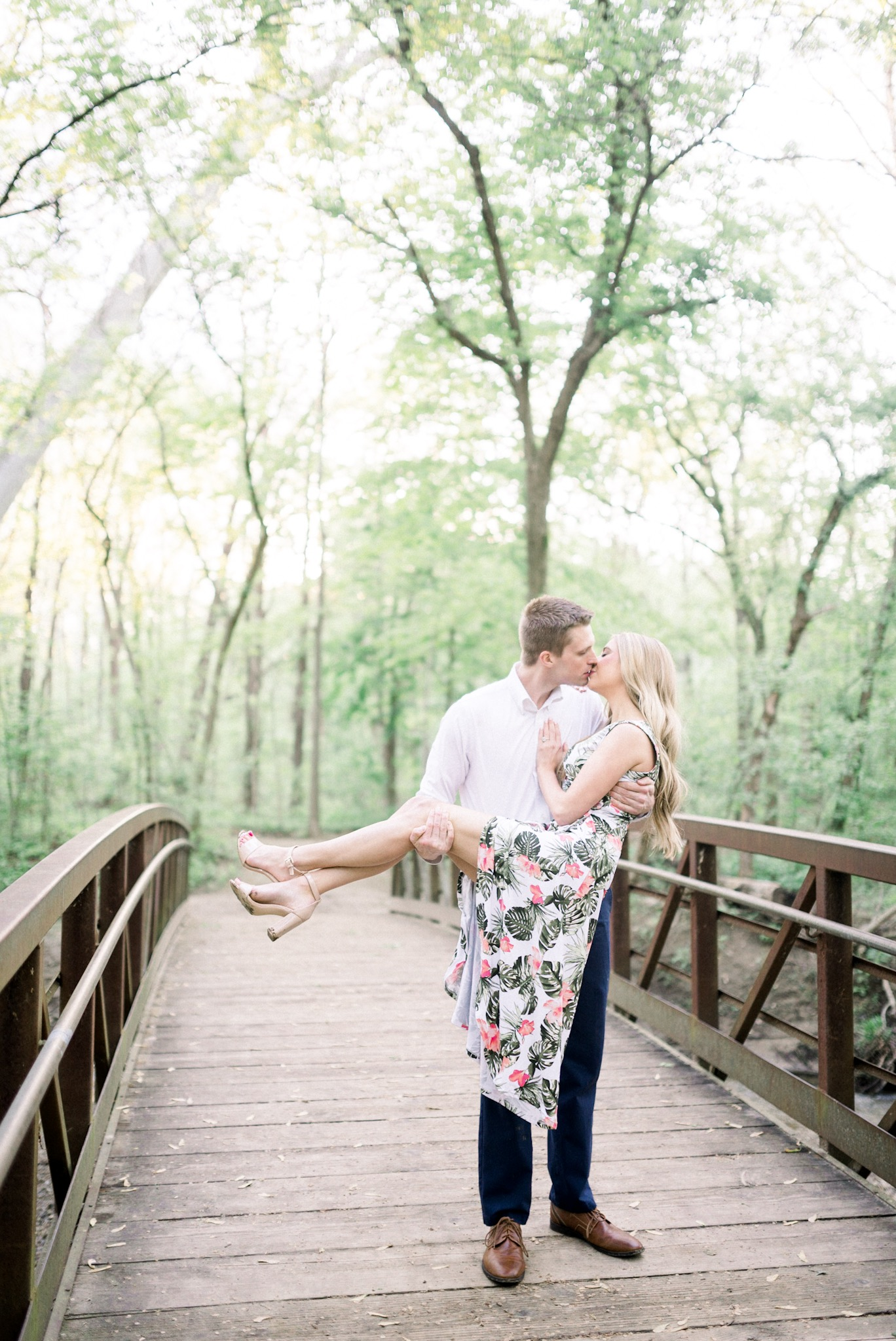 Jessica + Brayton | Romantic Engagement Photography by the Creek in Carmel Indiana | Indianapolis Wedding Photographers