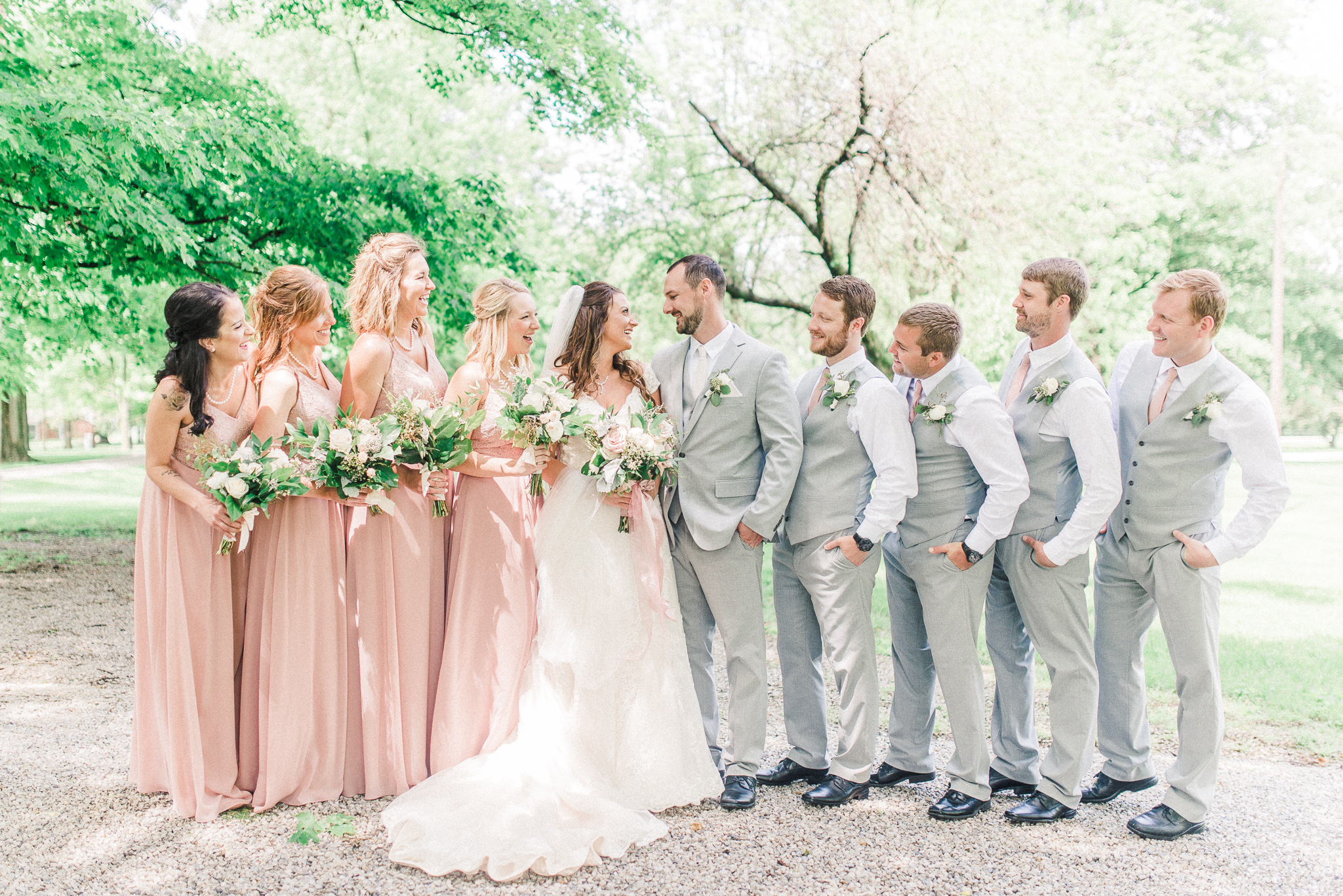 Stephanie + Brody | An Elegant Dusty Rose Wedding at the Rustic Legacy Barn in Kokomo | Indianapolis Wedding Photographers