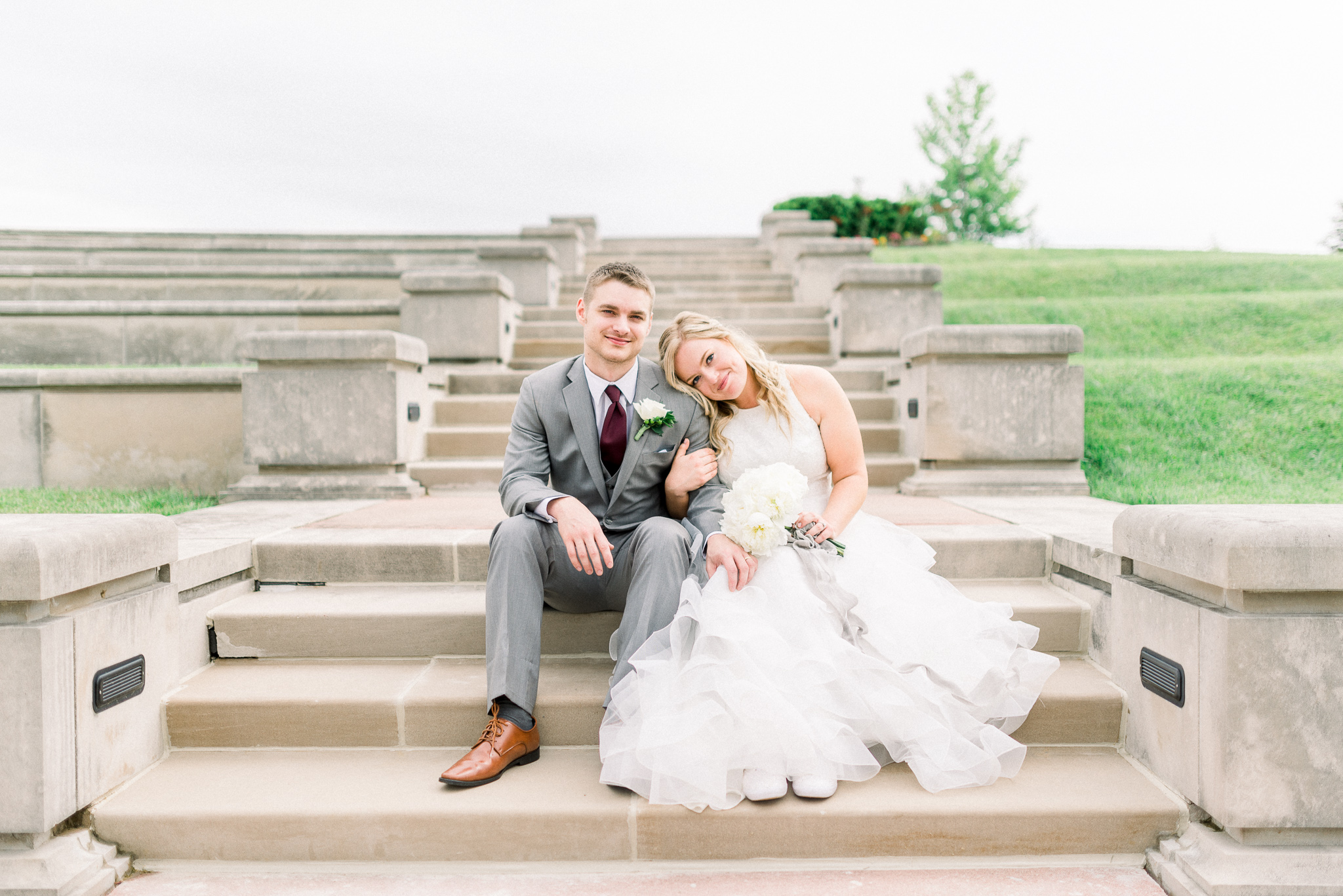 Courtney + Tanner | A Fresh Sunday Morning Elopement on Race Day at Coxhall Gardens in Carmel, Indiana | Indianapolis Wedding Photographers