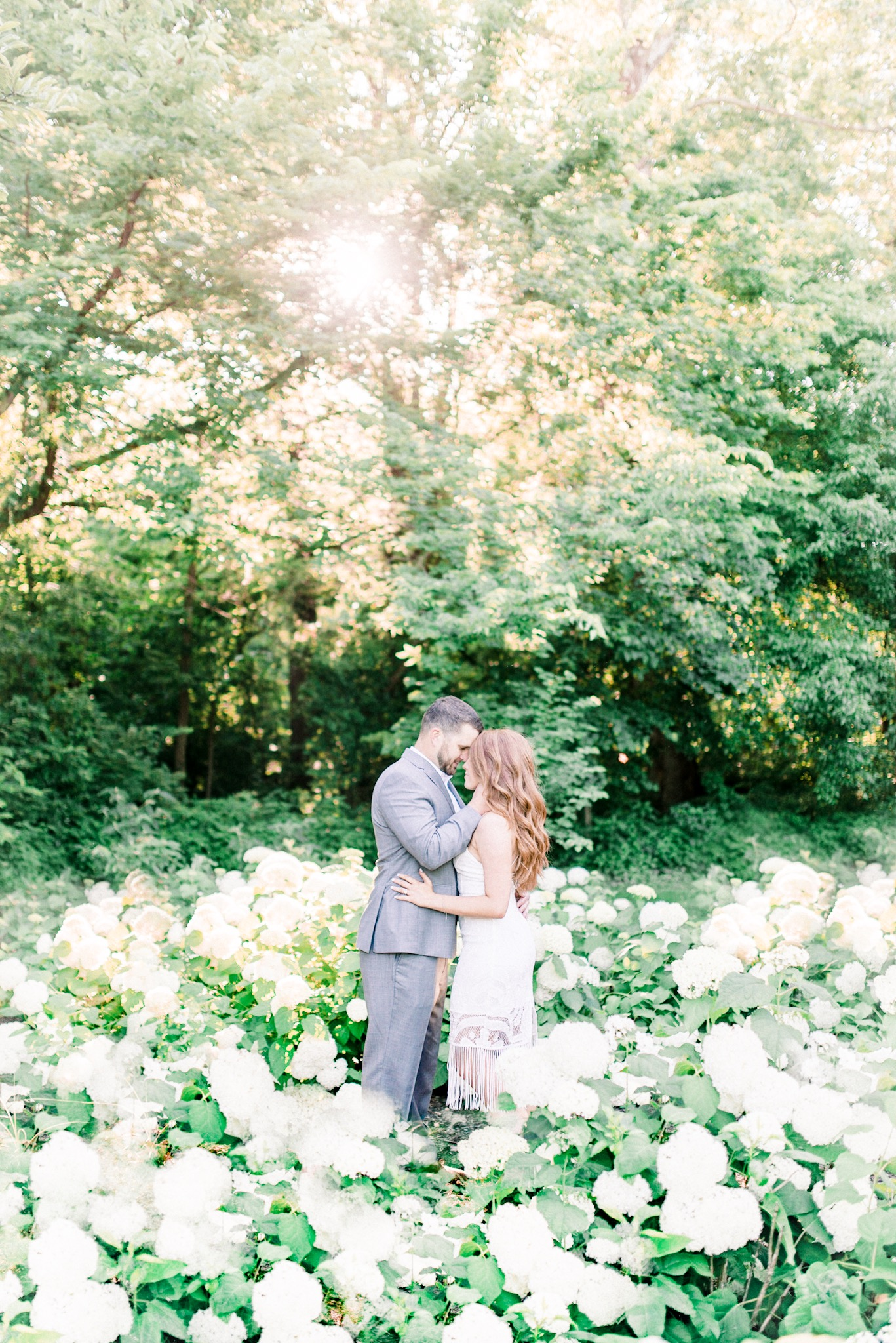 Amanda + Brian | Warm and Bright Summer Engagement Photography in Carmel, IN | Indianapolis Wedding Photographers