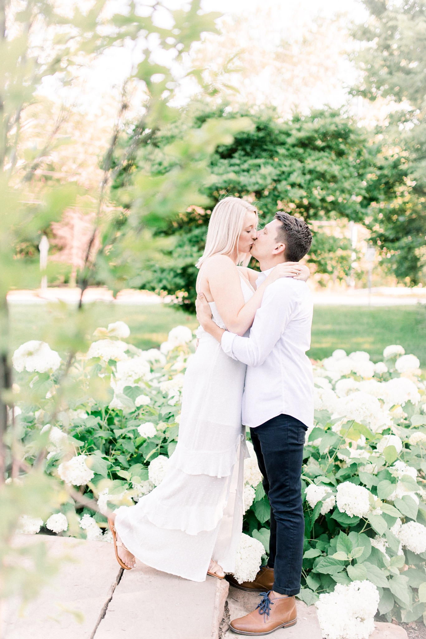 Maria + Josh | Warm and Cozy Summer Engagement in Carmel, IN | Indianapolis Wedding Photographers