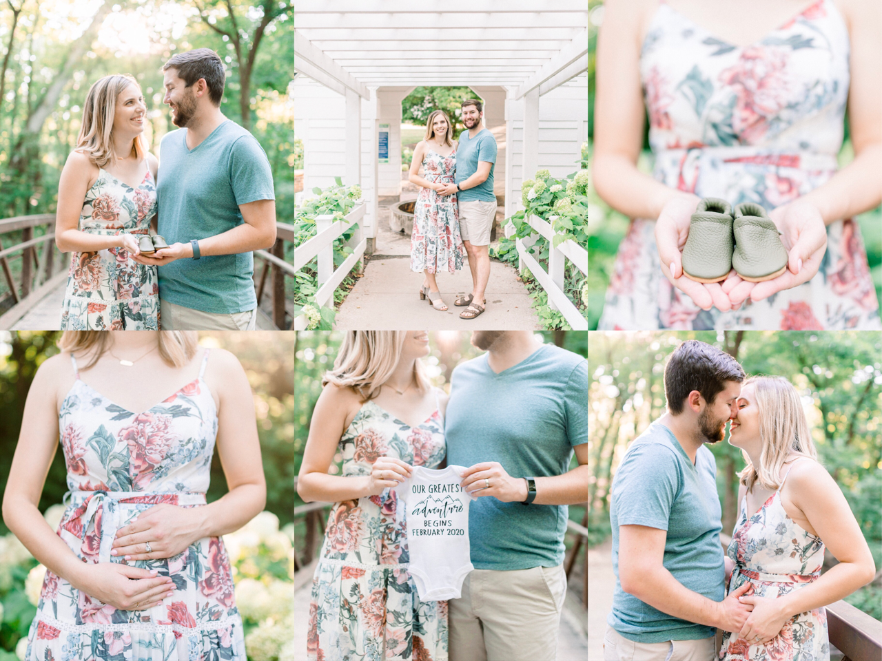 Taylor & John Are Expecting! | Summer Maternity Announcement Photography | Carmel Indiana Portrait Photographer