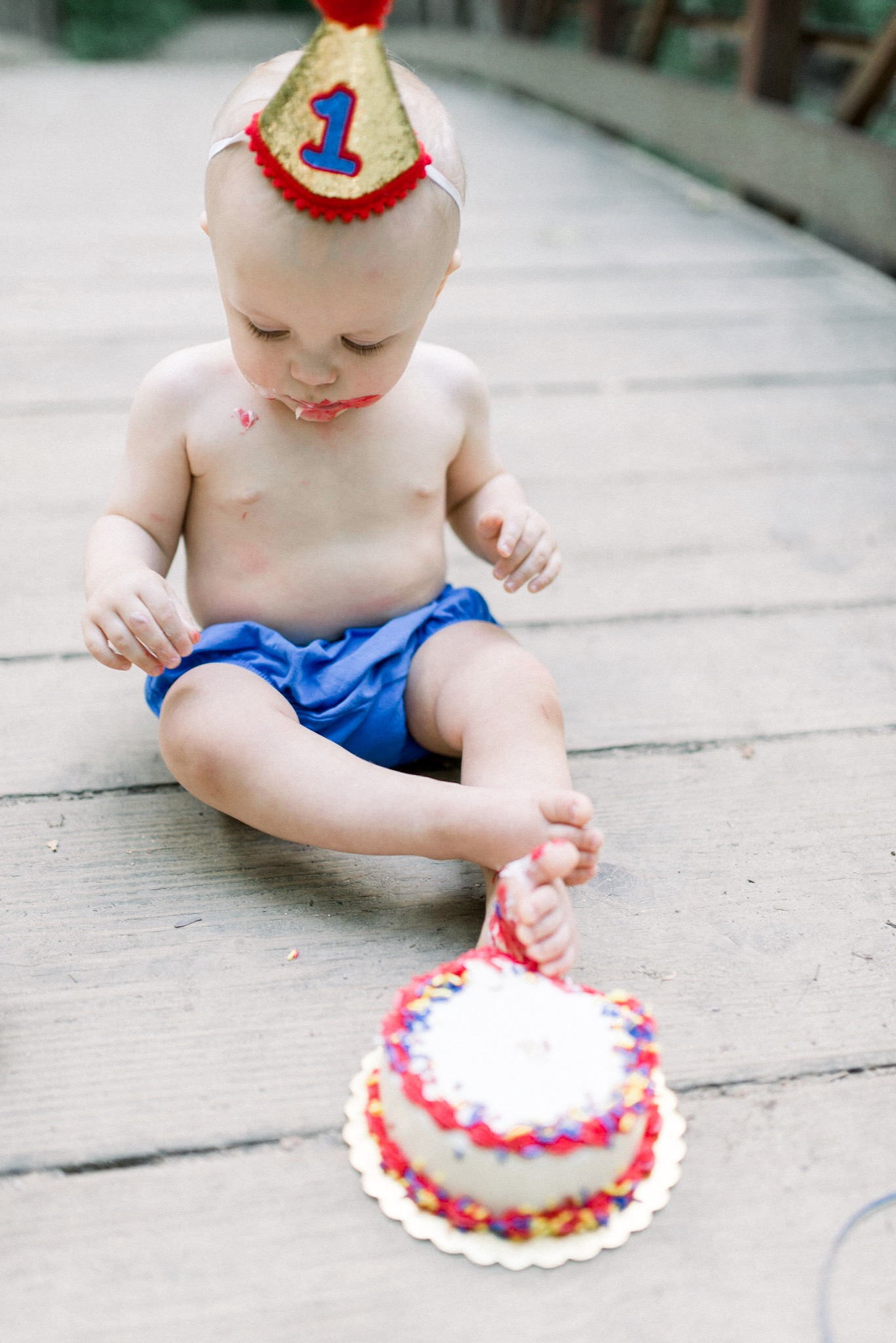 Henry & Owen | 12 Month Milestone Photography Session at the Park with a Circus Themed Cake Smash | Carmel, IN Family Photographers