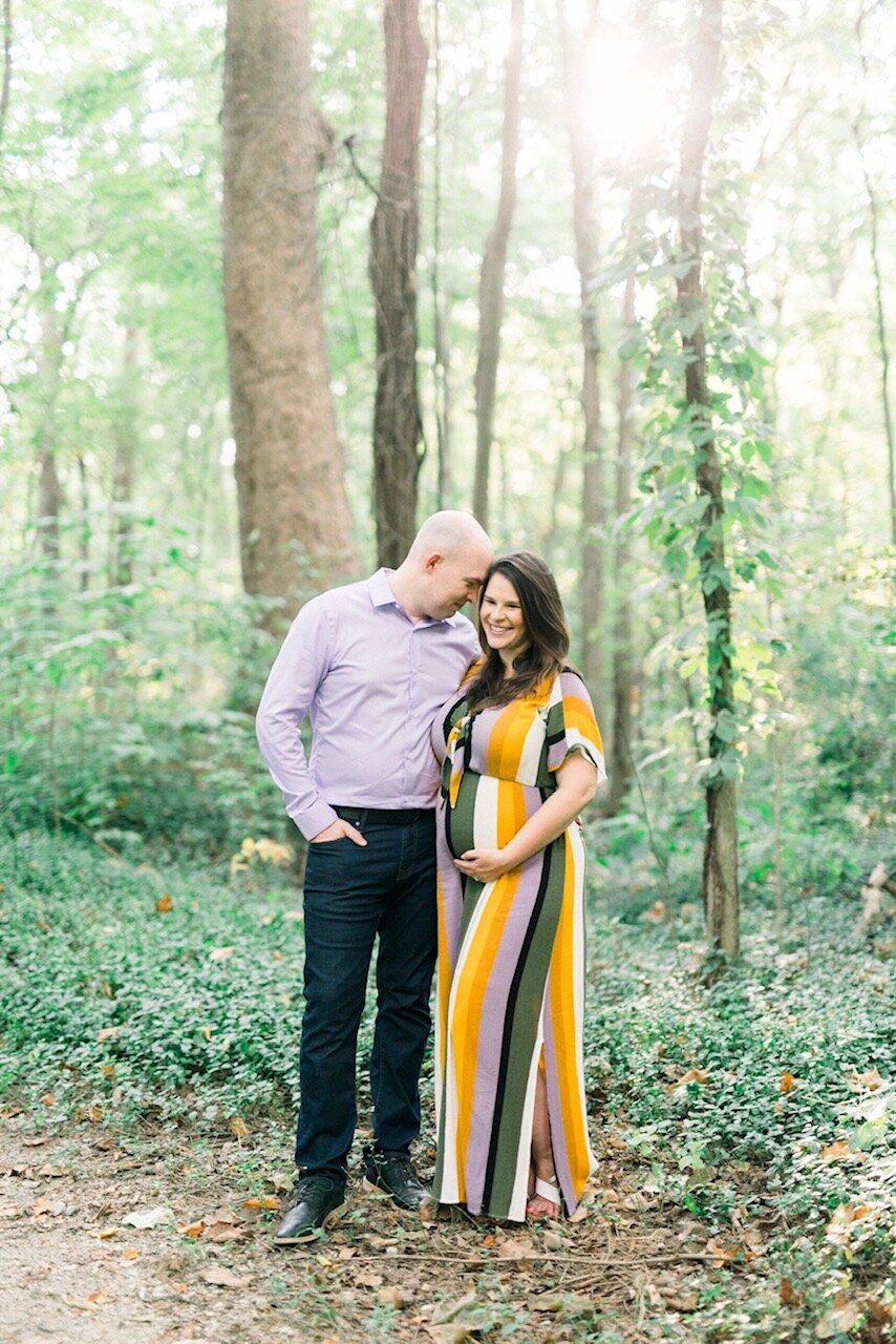Jennifer & Brandon | Late Summer Maternity Photography Session in Carmel, Indiana | Noblesville Newborn Photographer