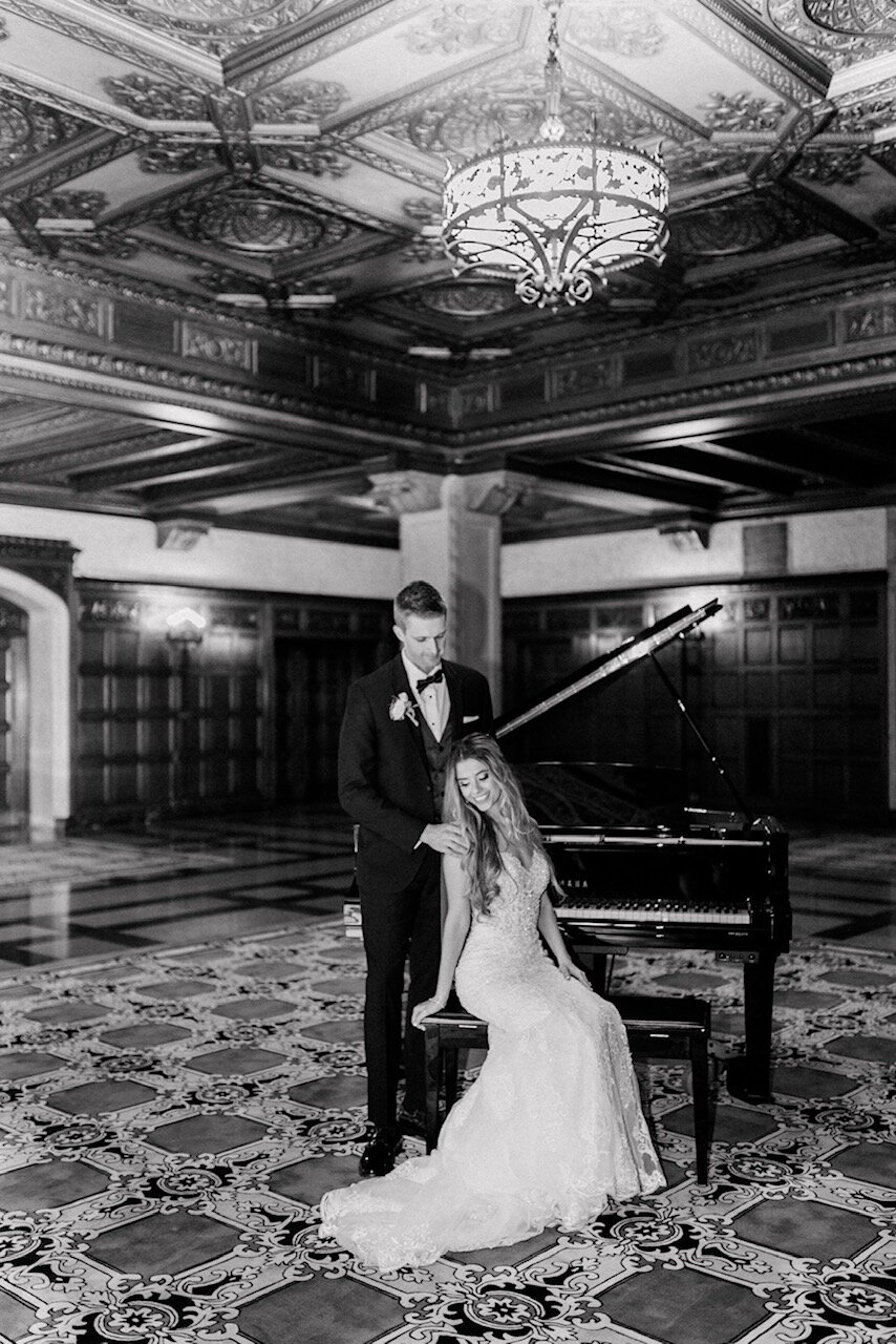 Jessica & Brayton | Elegant and Romantic Fairytale Wedding with Royal Flair at St. Mary's Catholic Church and the Scottish Rite Cathedral | Indianapolis Wedding Photographers