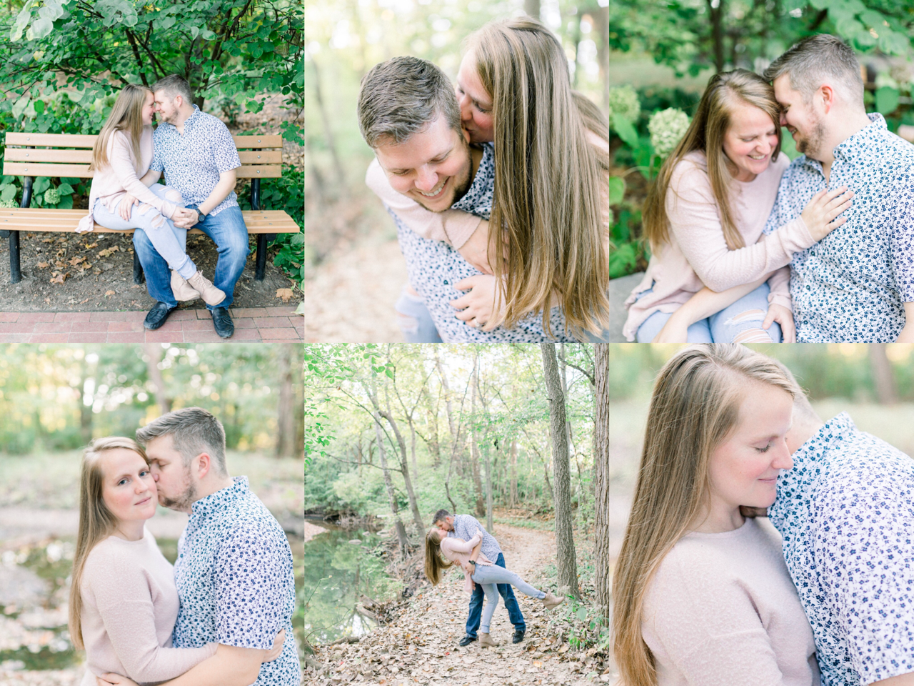 Katelin & Robert | A Soft and Romantic Early Fall Engagement in Carmel, Indiana | Indianapolis Destination Wedding Photographers