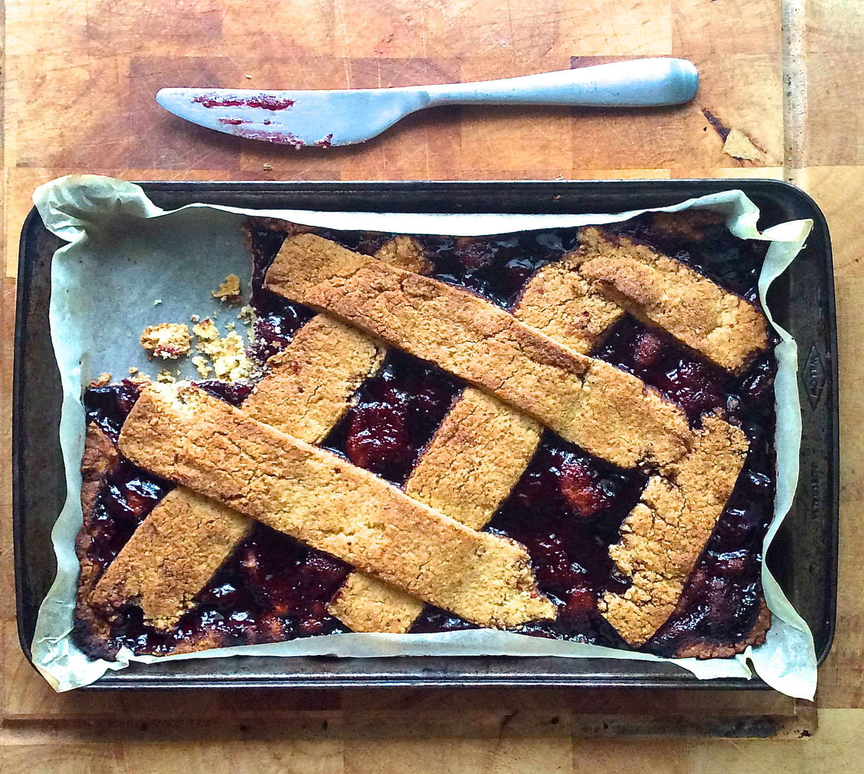 Linzer Torte made with Ugly Duck Preserves Jaboticaba paste