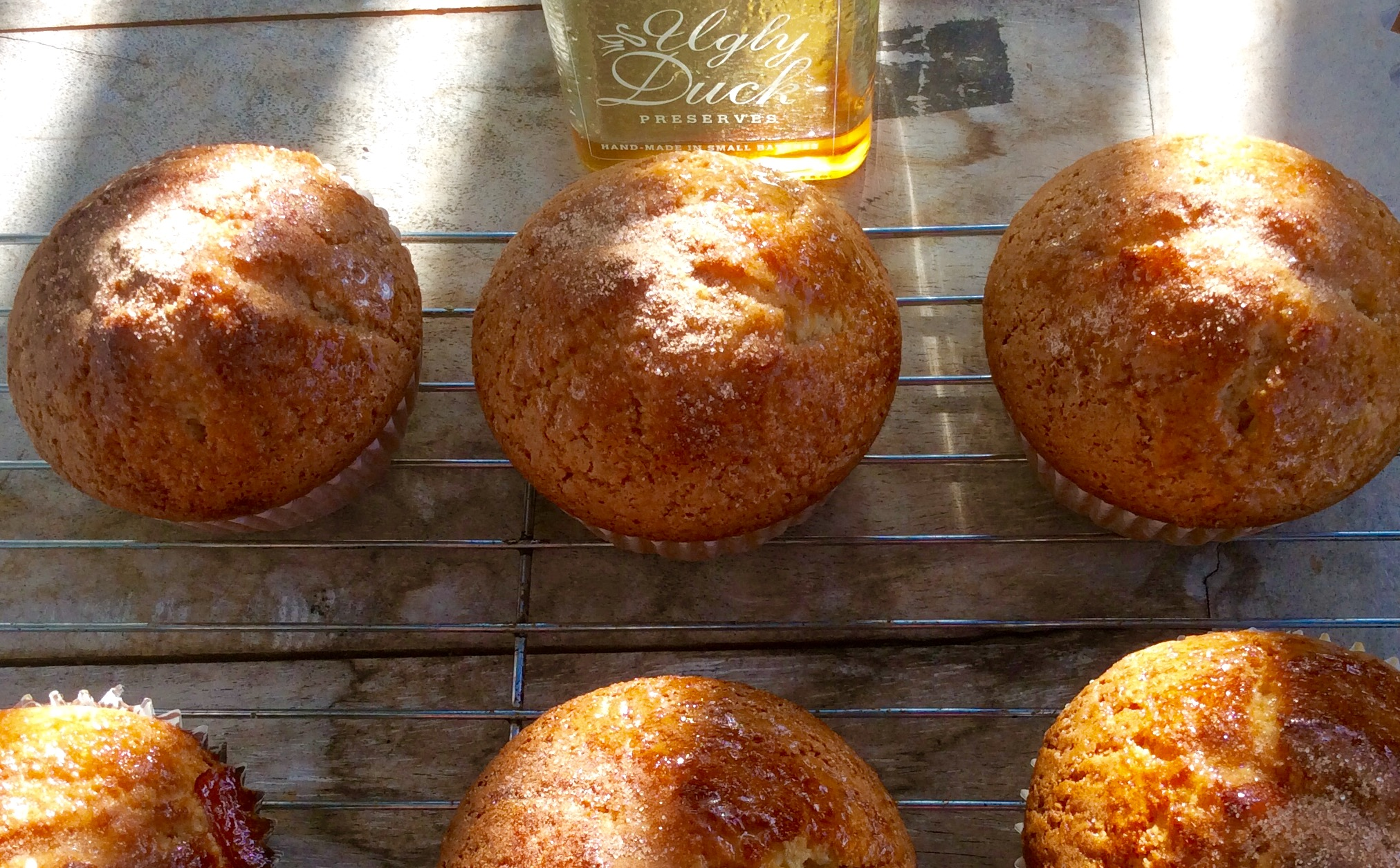 Freshly baked Orange Marmalade Muffins with award winning Ugly Duck Preserves marmalade