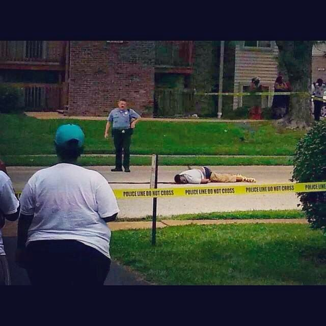 Mike Brown gunned down.