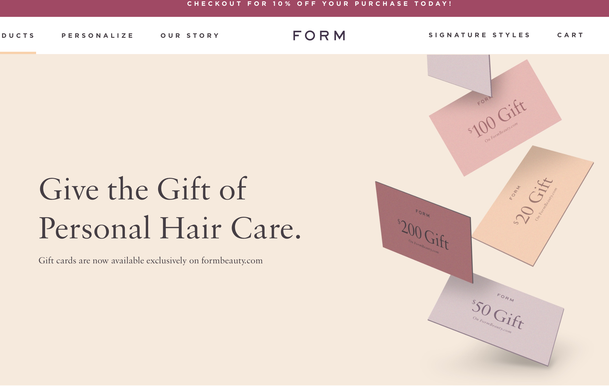 Shop Form Beauty With Me! - SHOP HERE