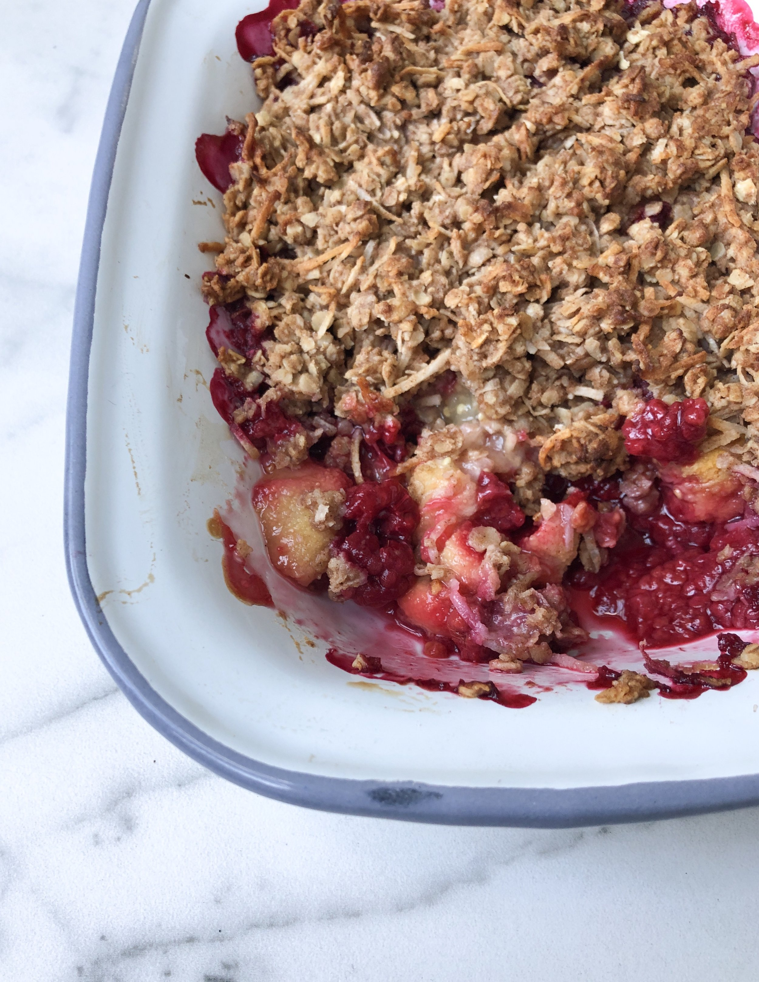 Feijoa & Raspberry Crumble 2