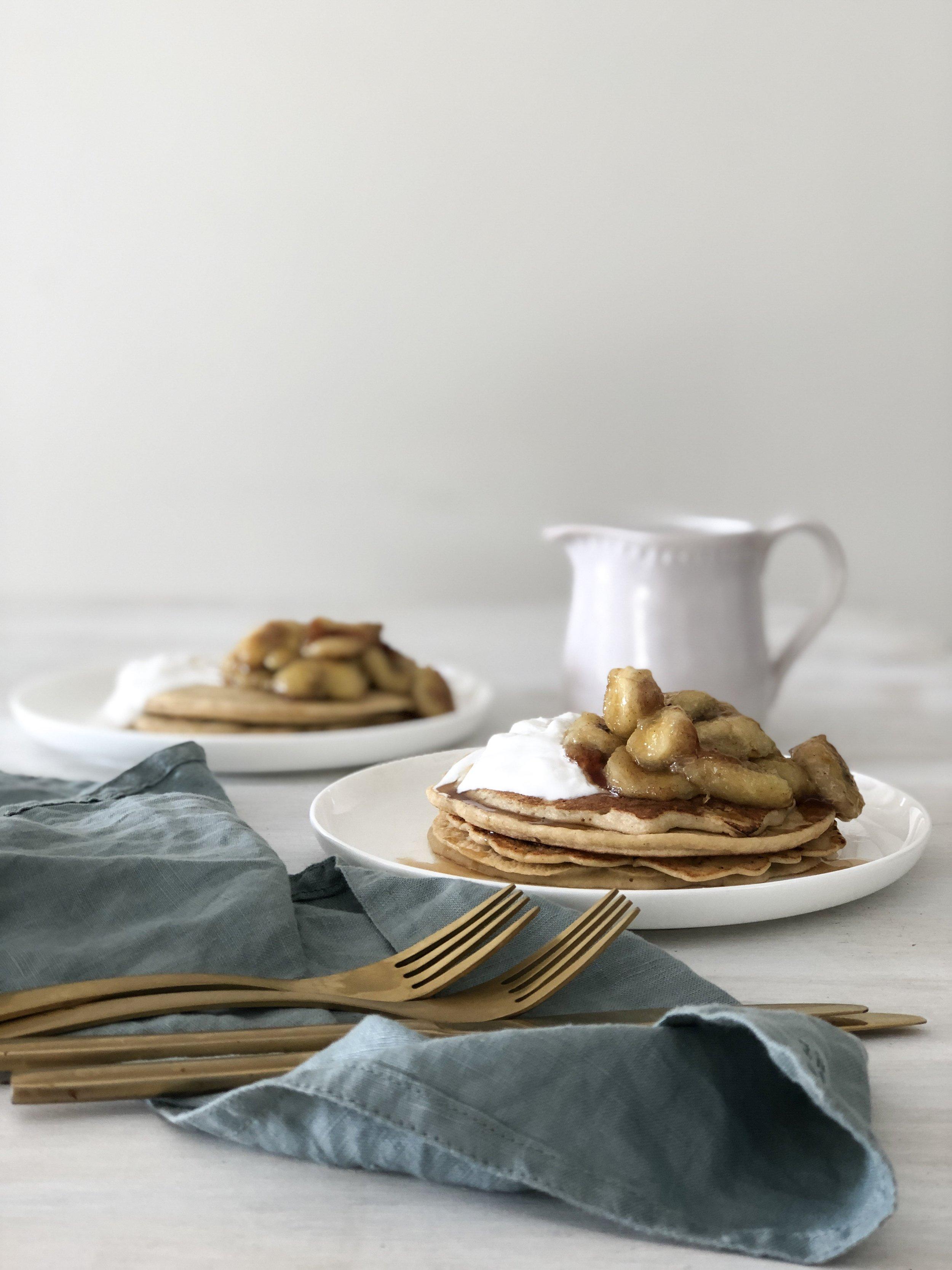 Buckwheat Yoghurt Pancakes