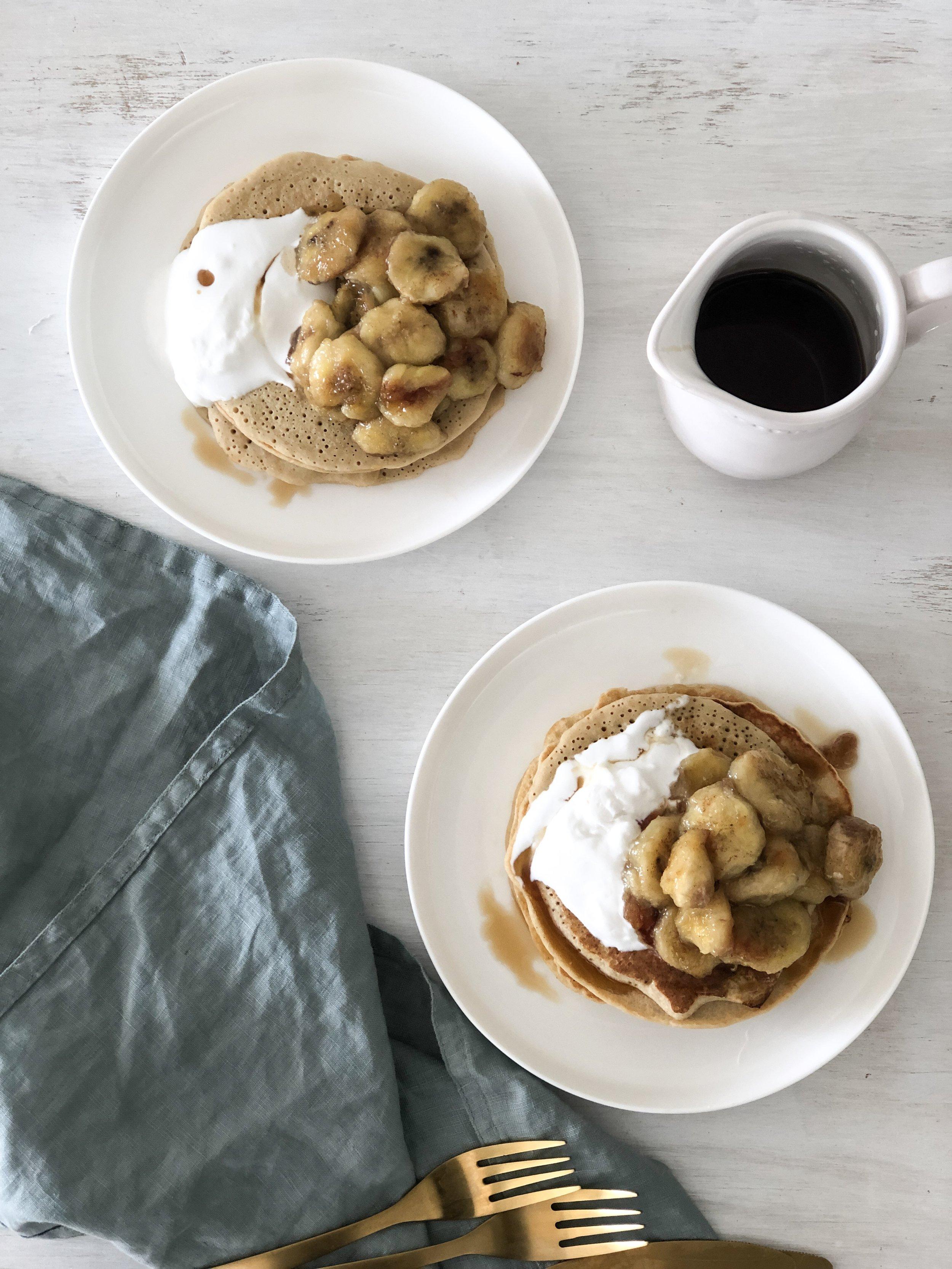 Buckwheat Yoghurt Pancakes gluten free