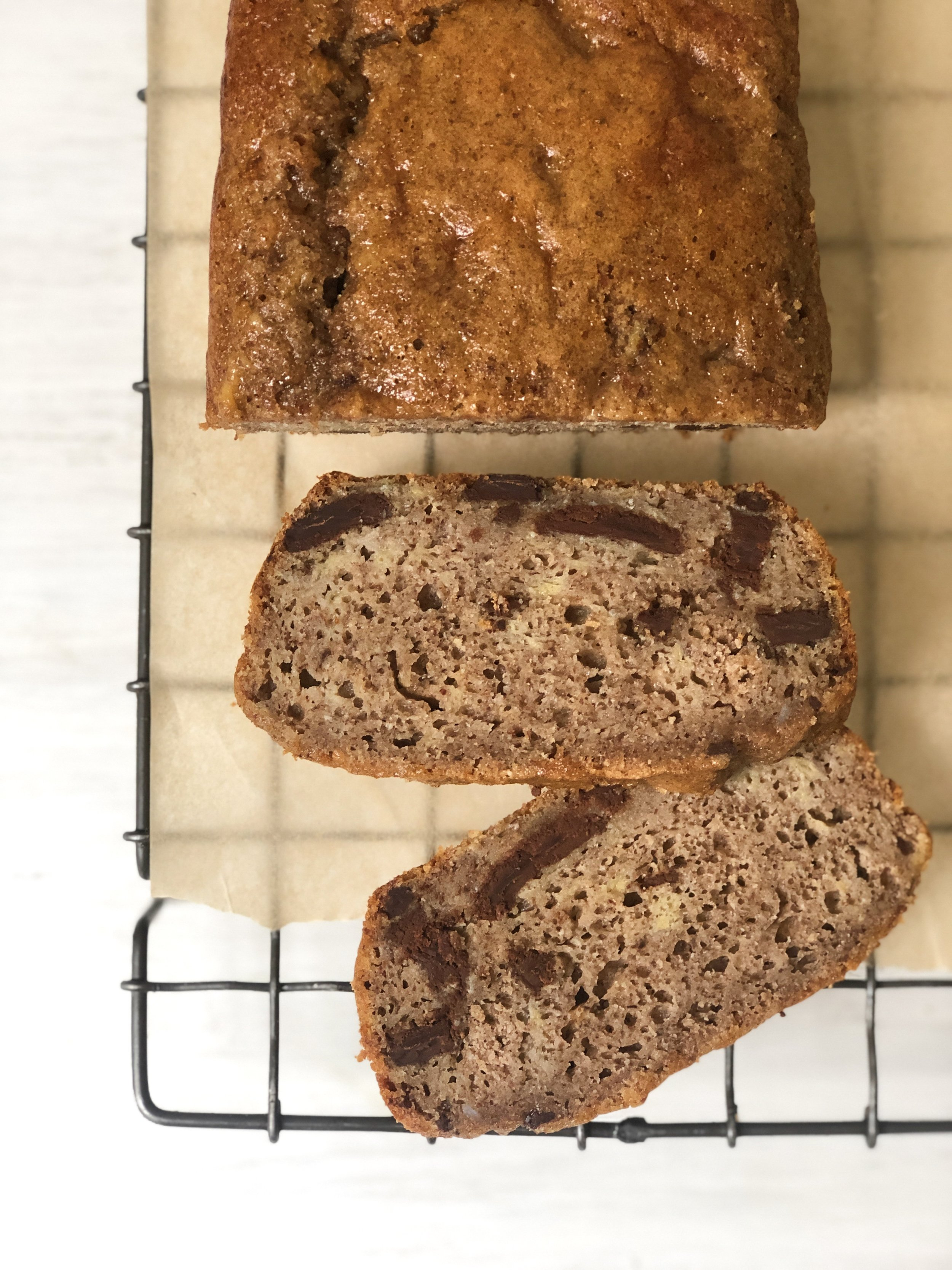 Banana Bread with Chocolate Chunks